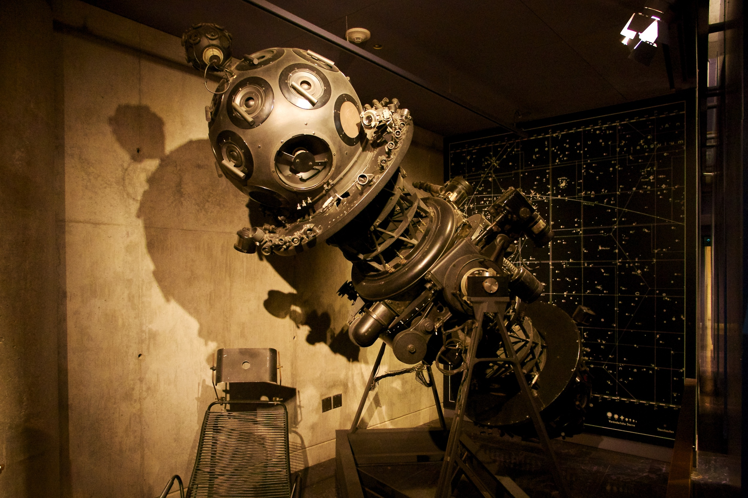 The original star projector, which was in use from 1964through beginning of renovations in 2002