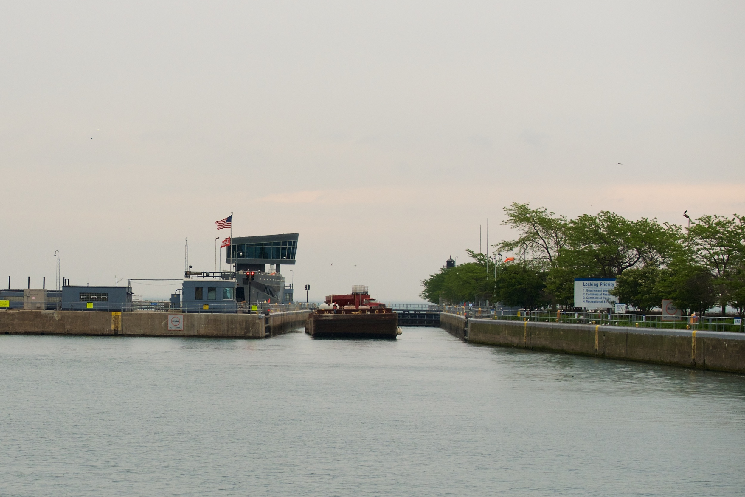 Canal to Lake Michigan