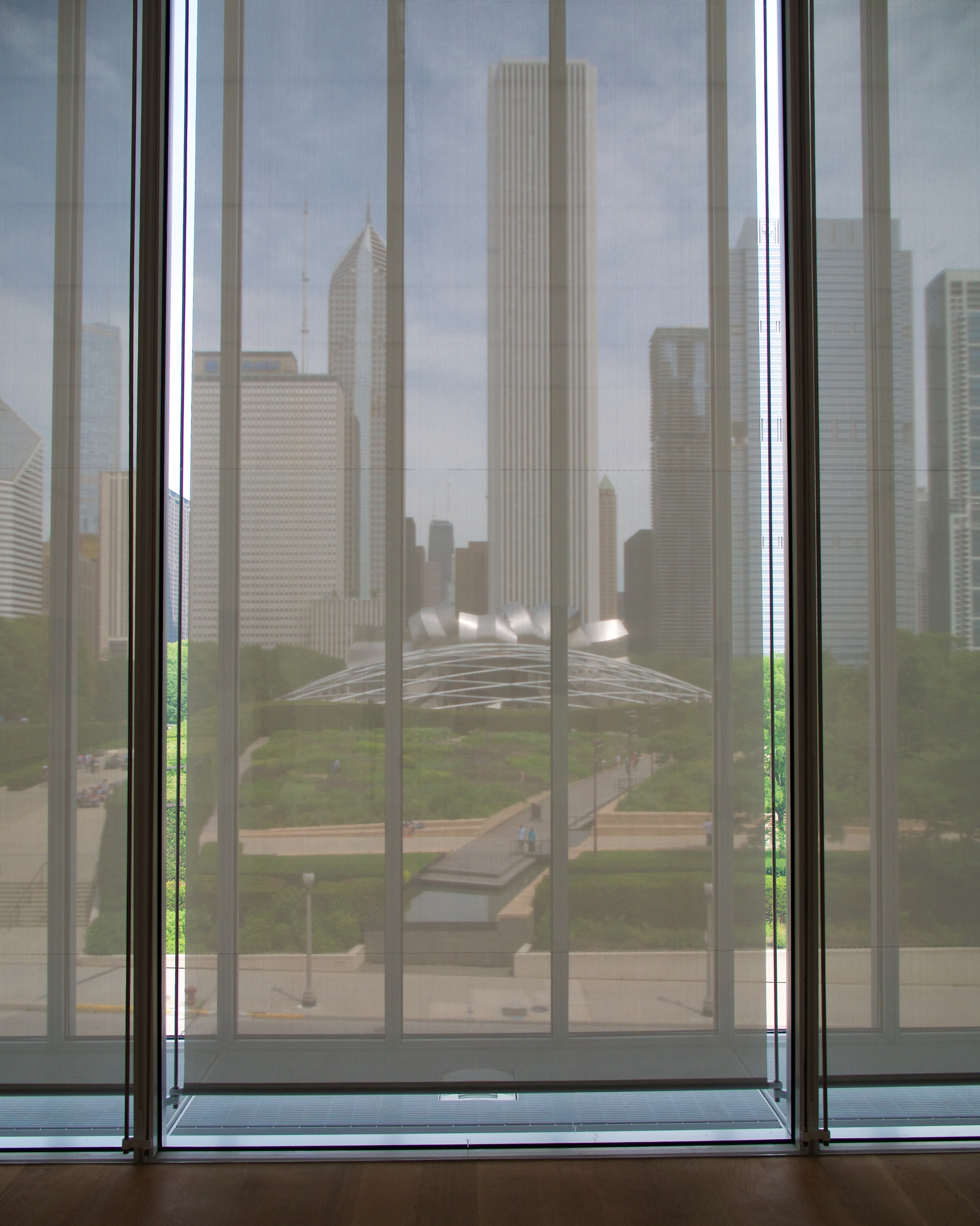 View of Millennium Park from the Art Institute