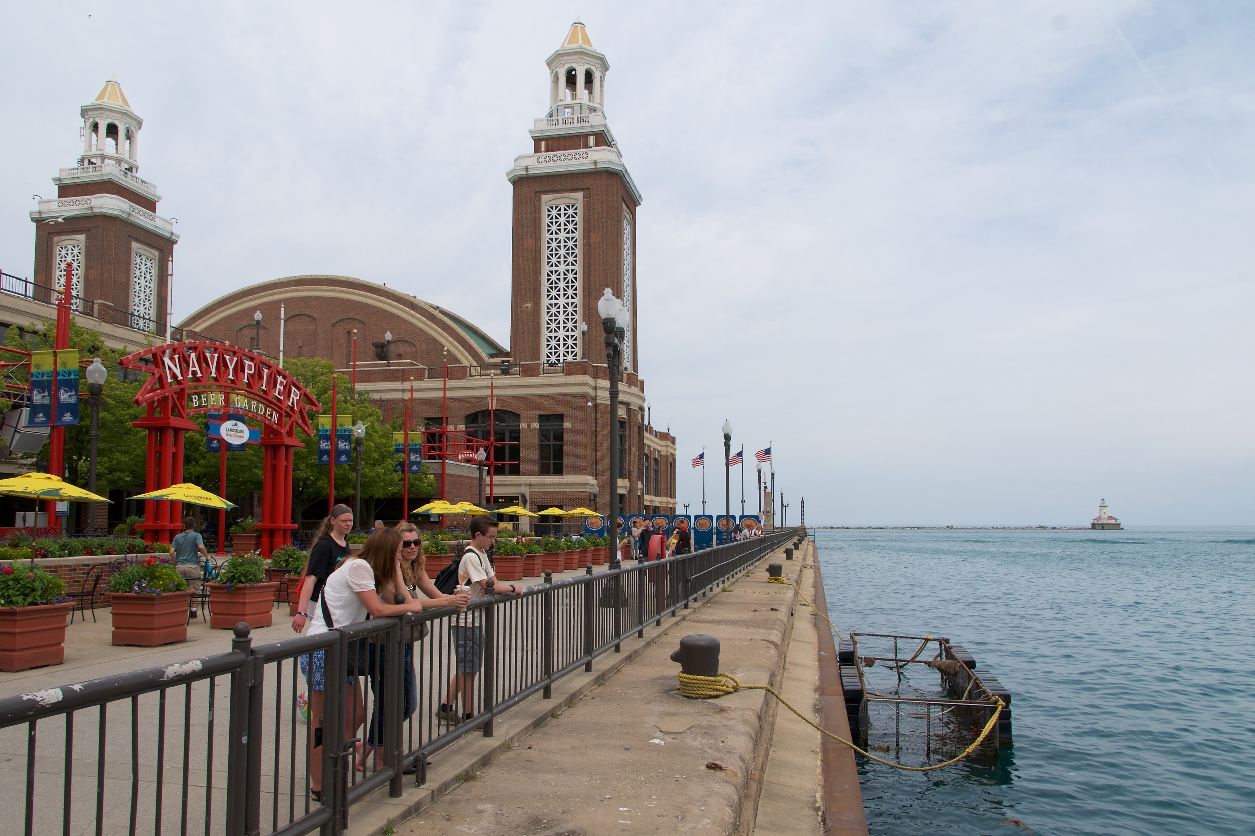 Looking off the end of Navy Pier