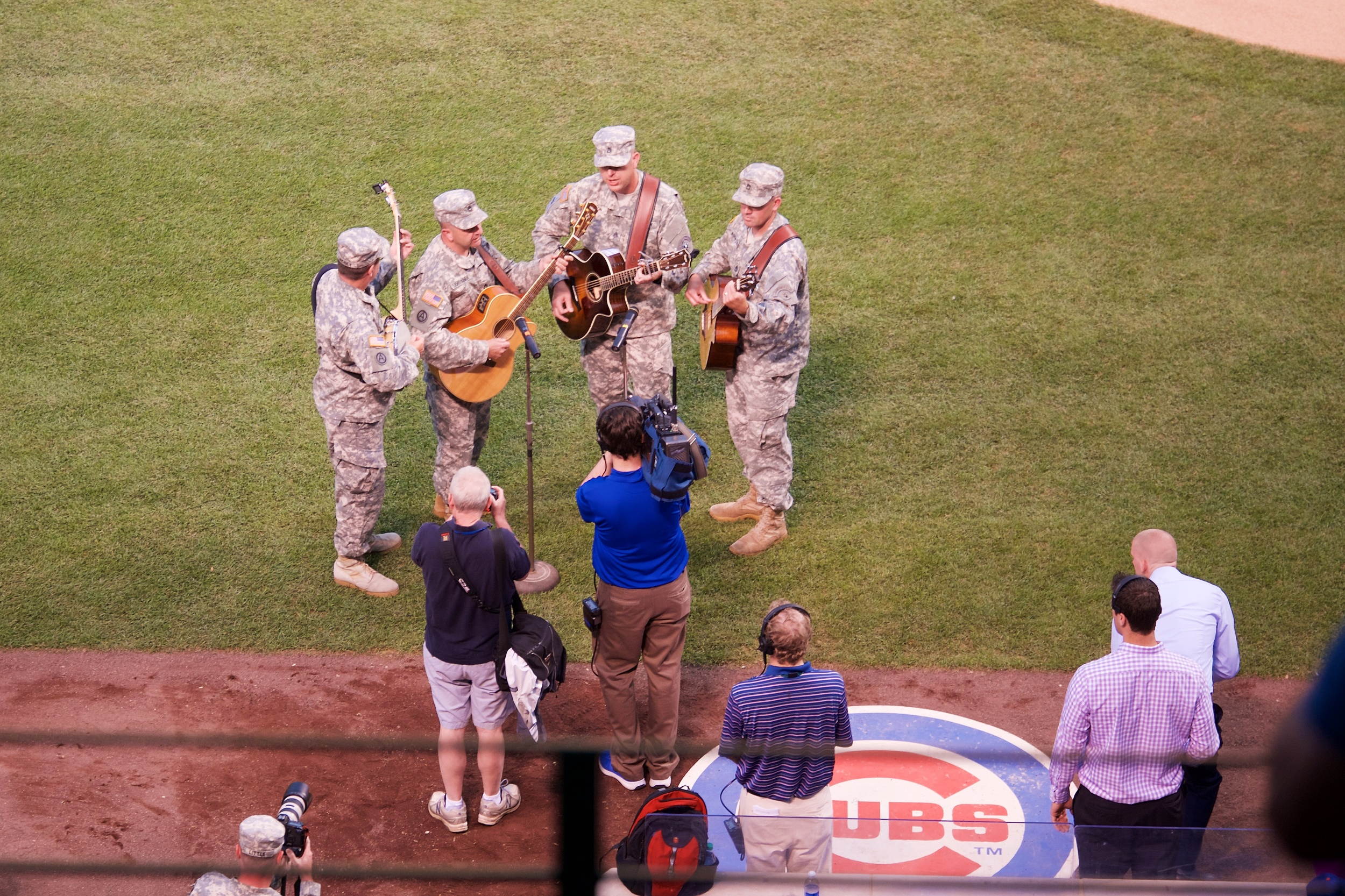 Guitars and banjo for the National Anthem