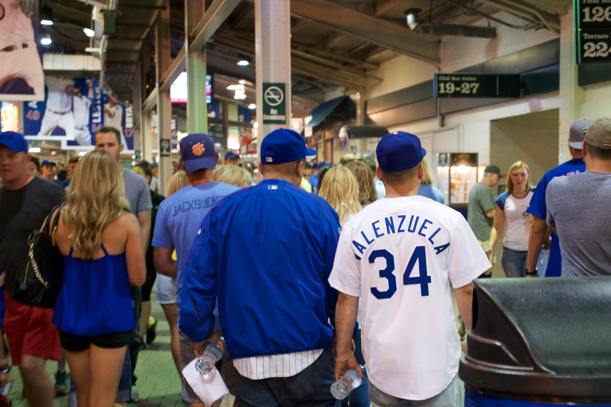 This Dodgers fan was sporting a Fernando Valenzuela jersey