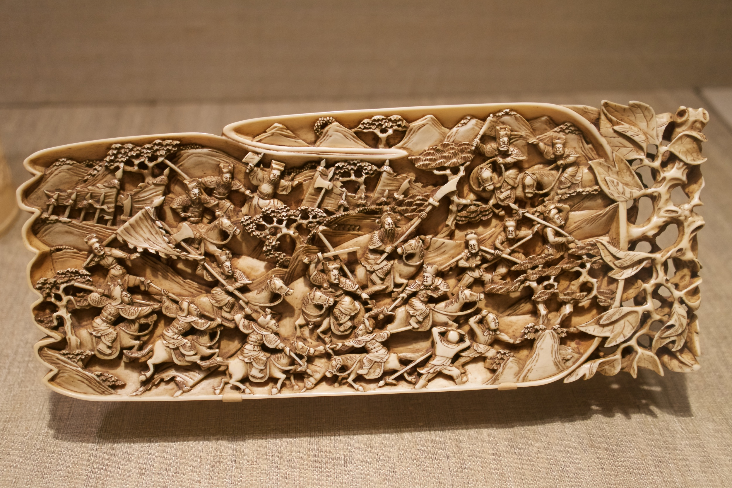 Plaque with Battle Scene, Qing Dynasty