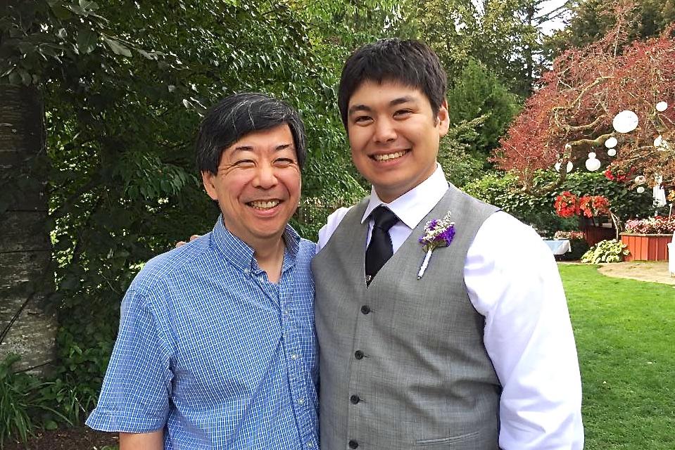 Father and groom (photo by Kathy Tashima)