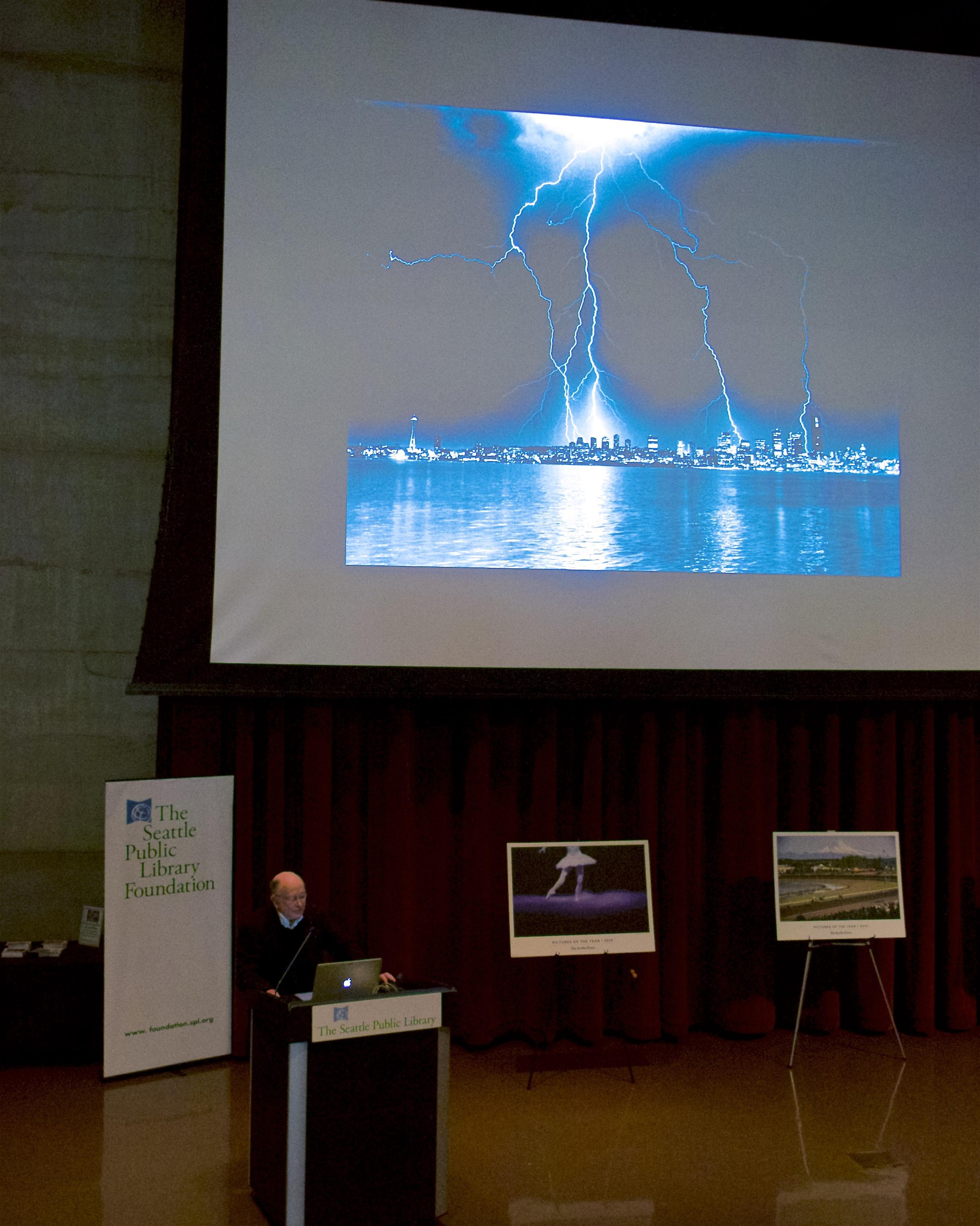 Greg Gilbert and his lightning photo