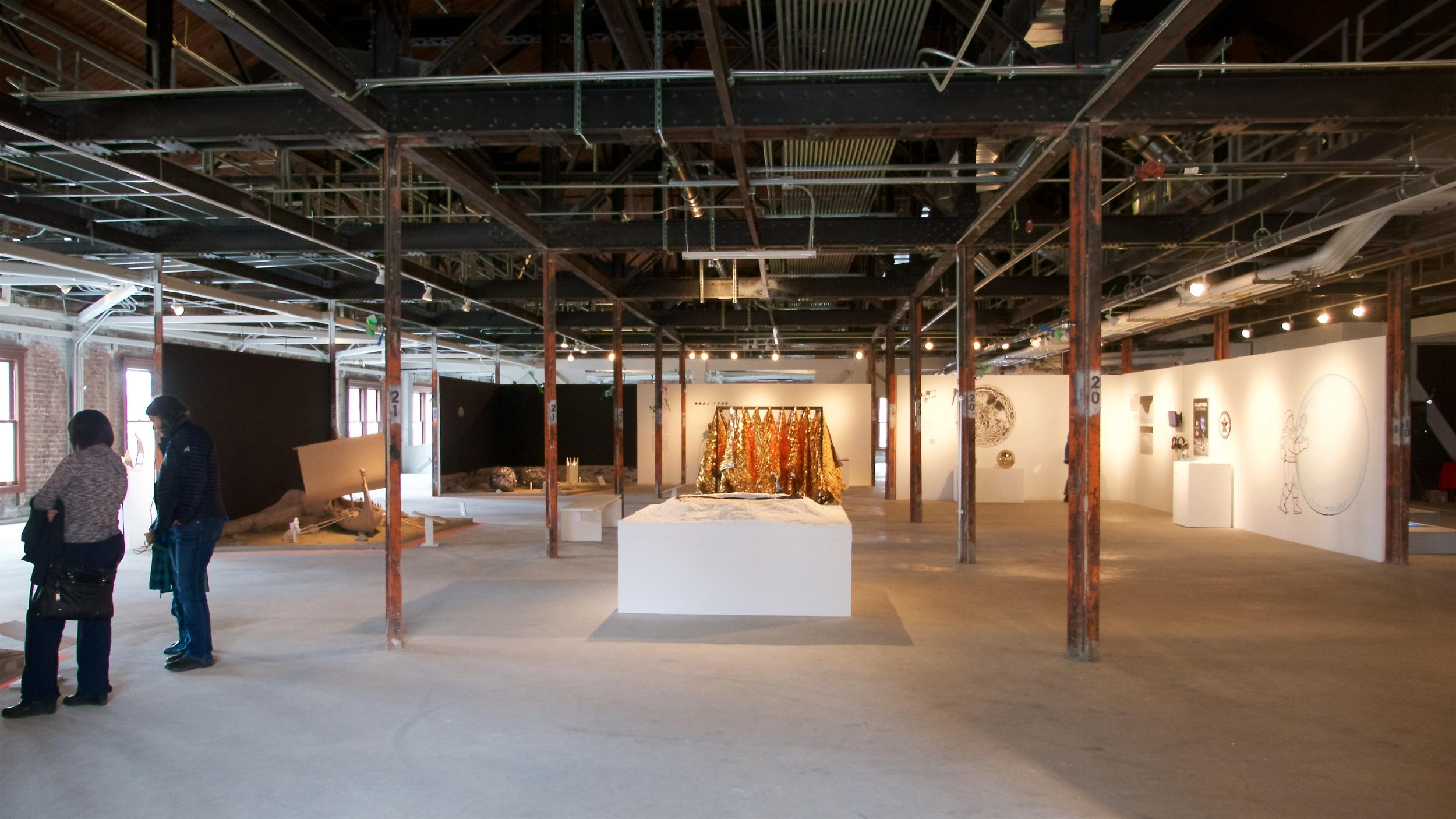 The work was arranged so the area felt very spacious.