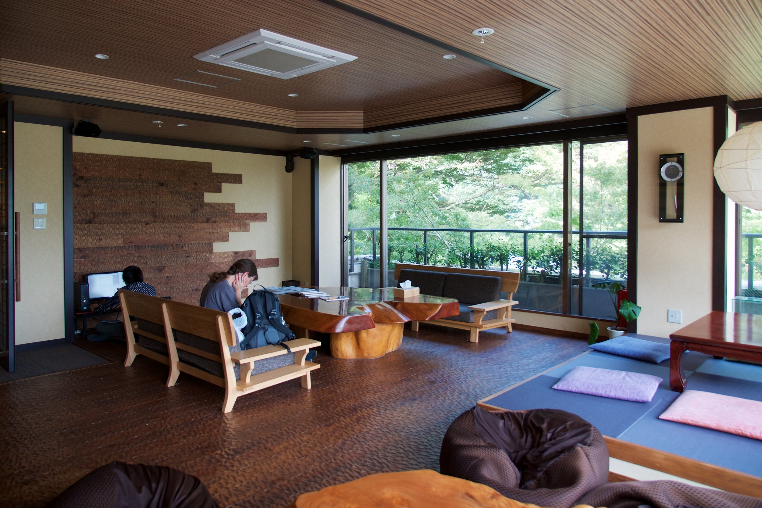 Common room in the hostel