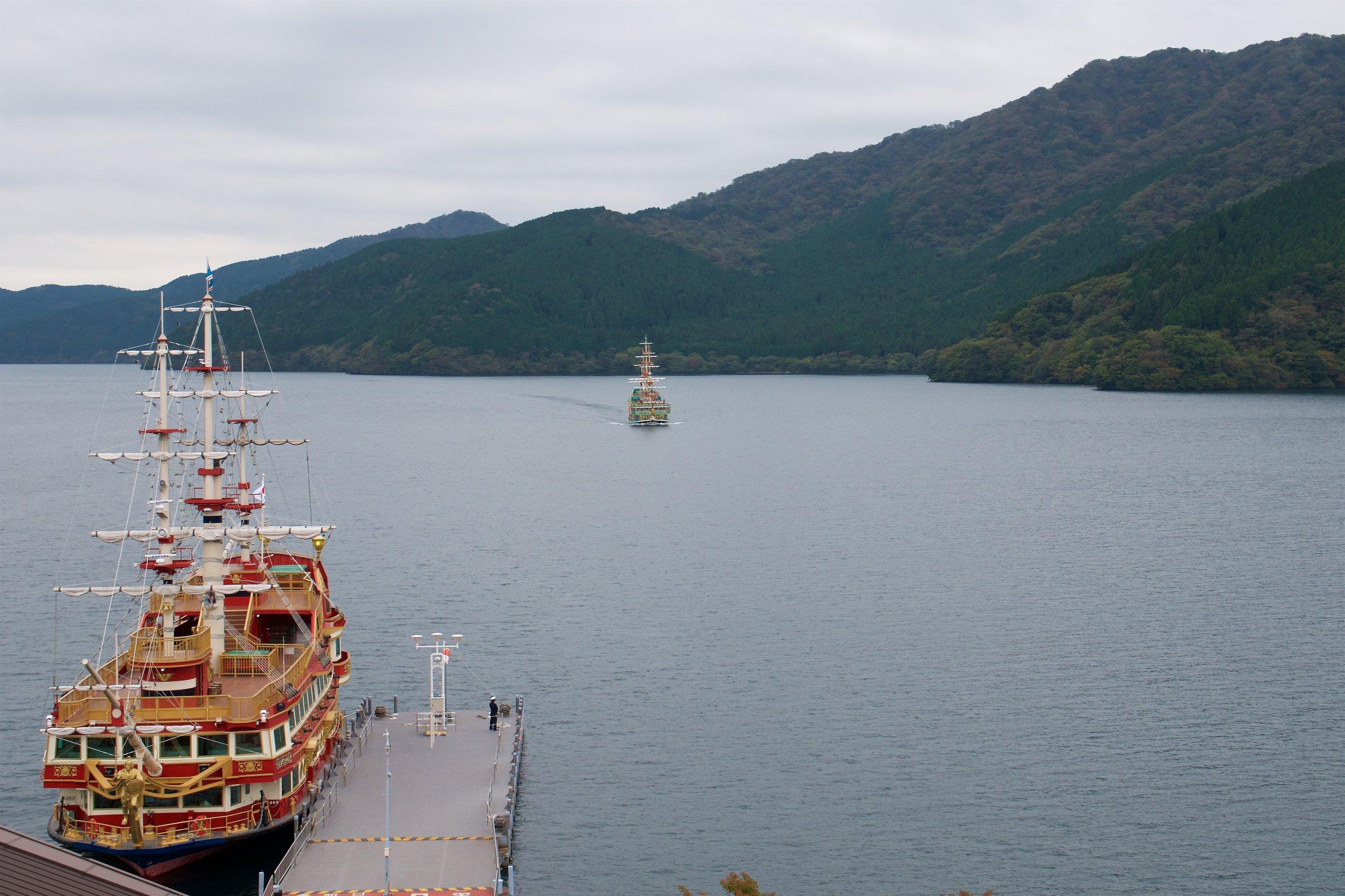 Our ship for the trip across Lake Ashi