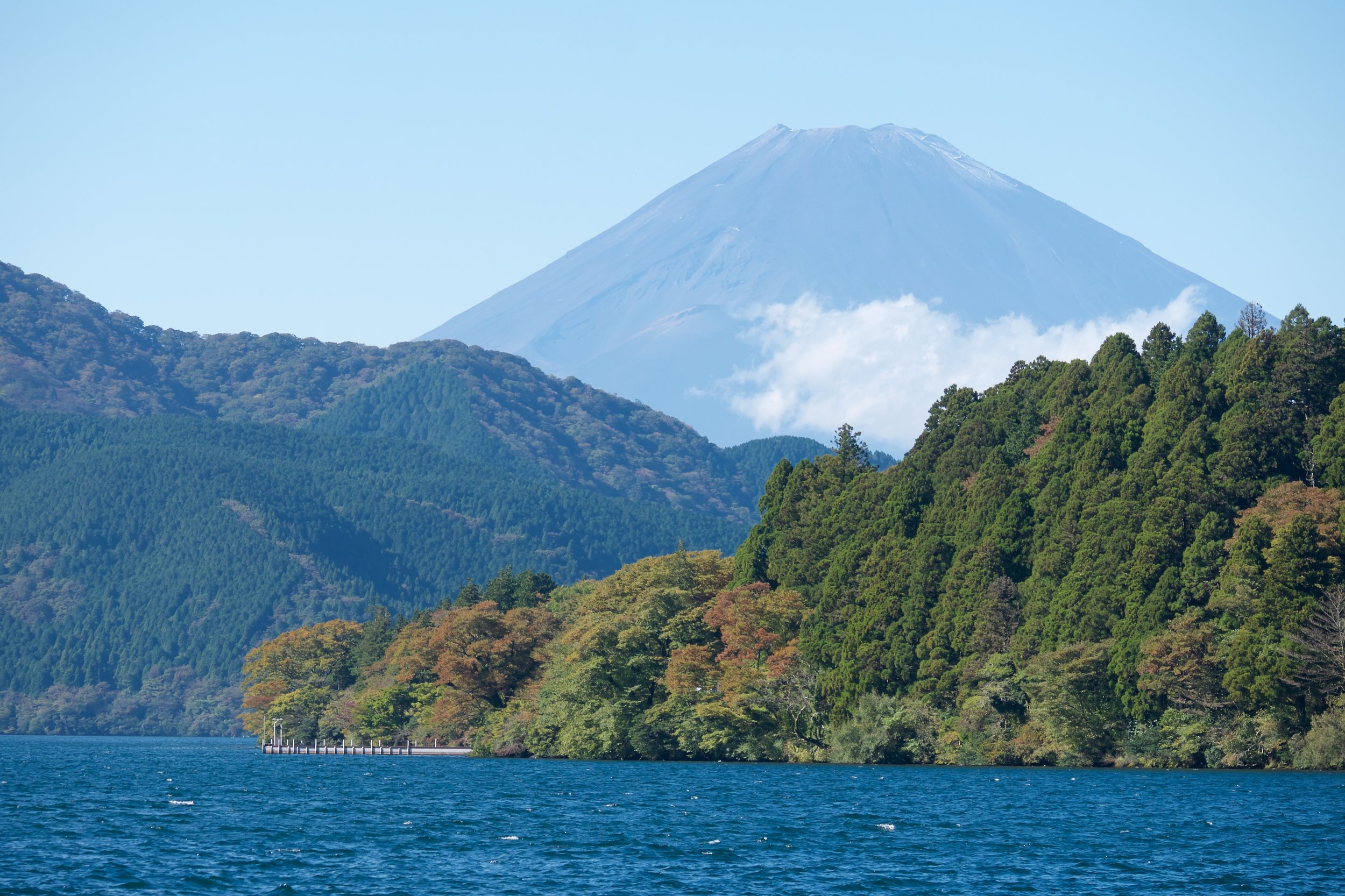 Our first view of Mt. Fuji