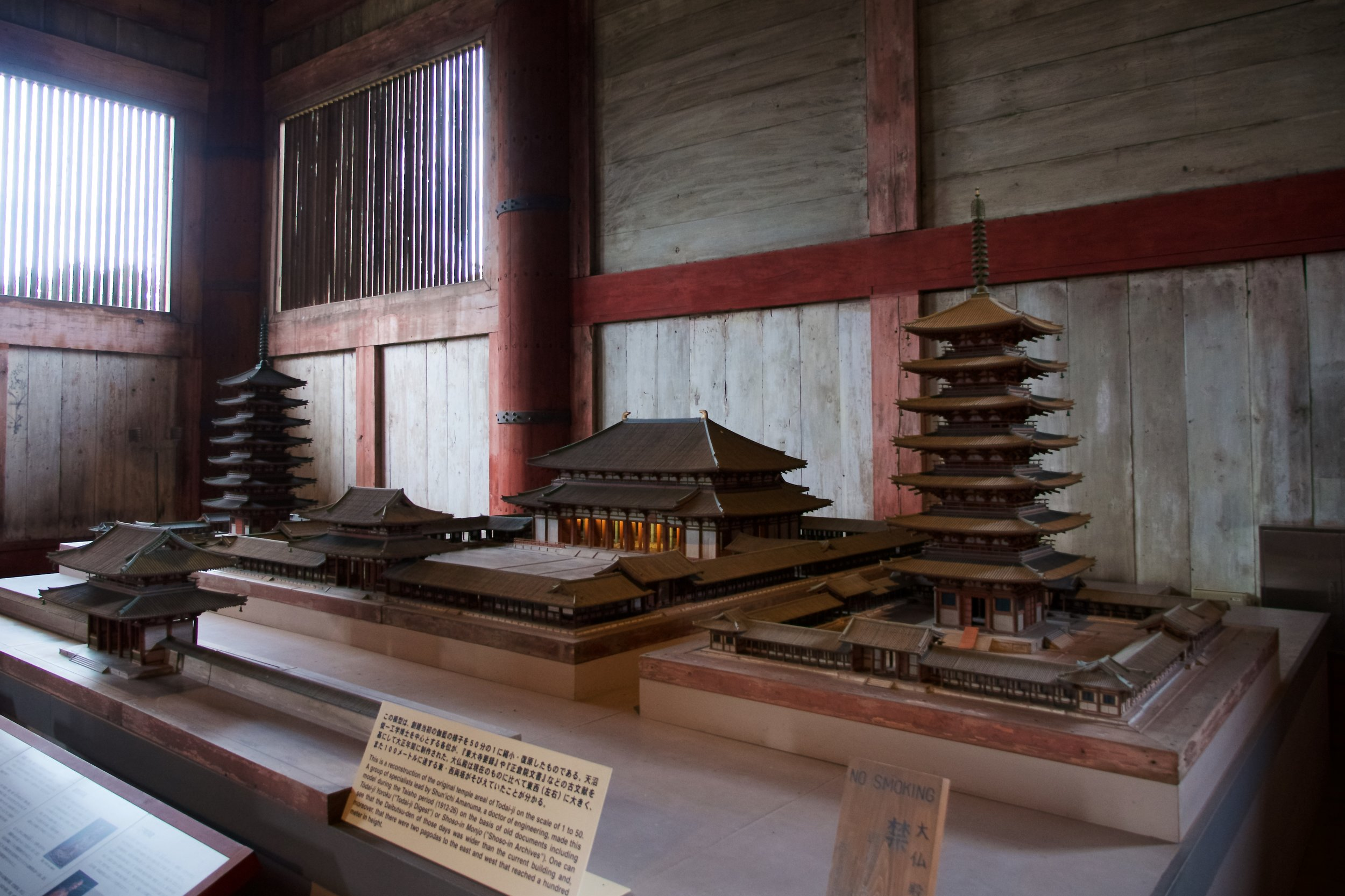 Model of the Todaiji complex