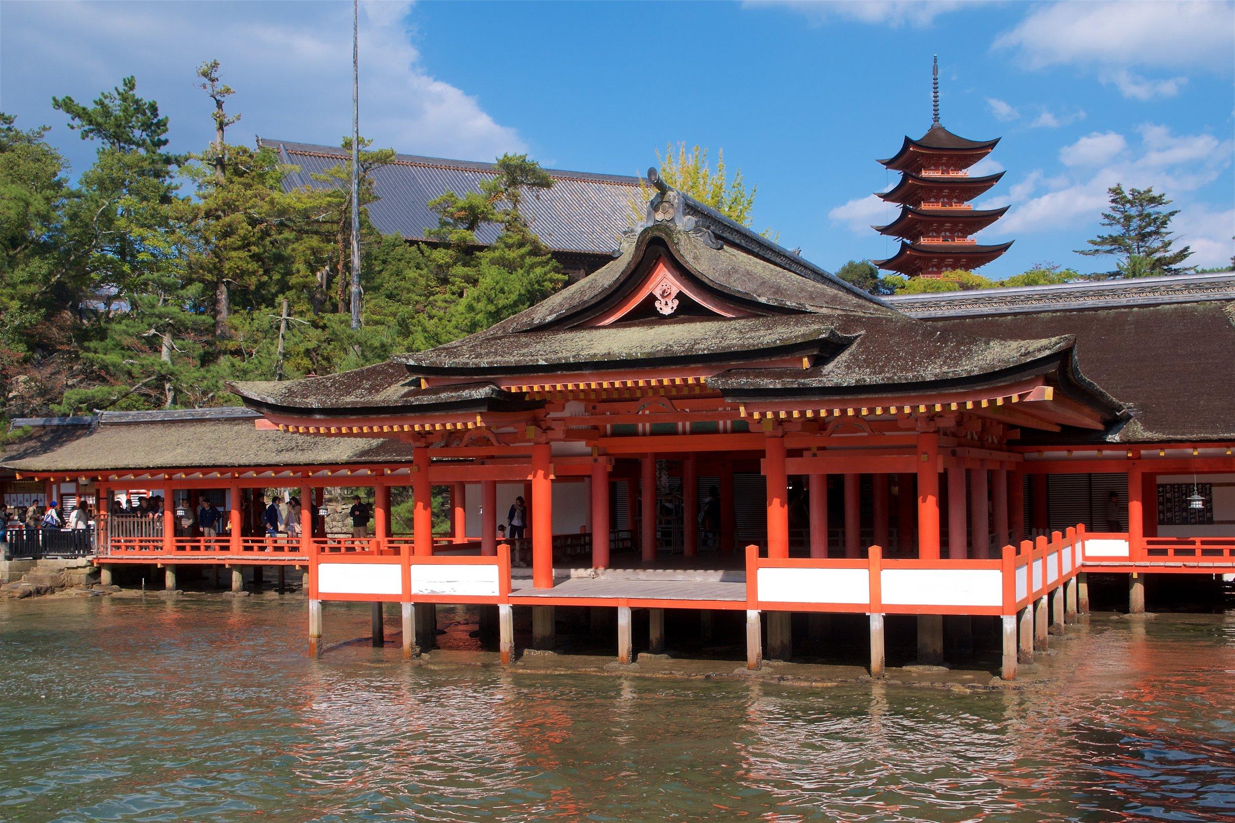 Marodo Shrine, five-storied pagoda