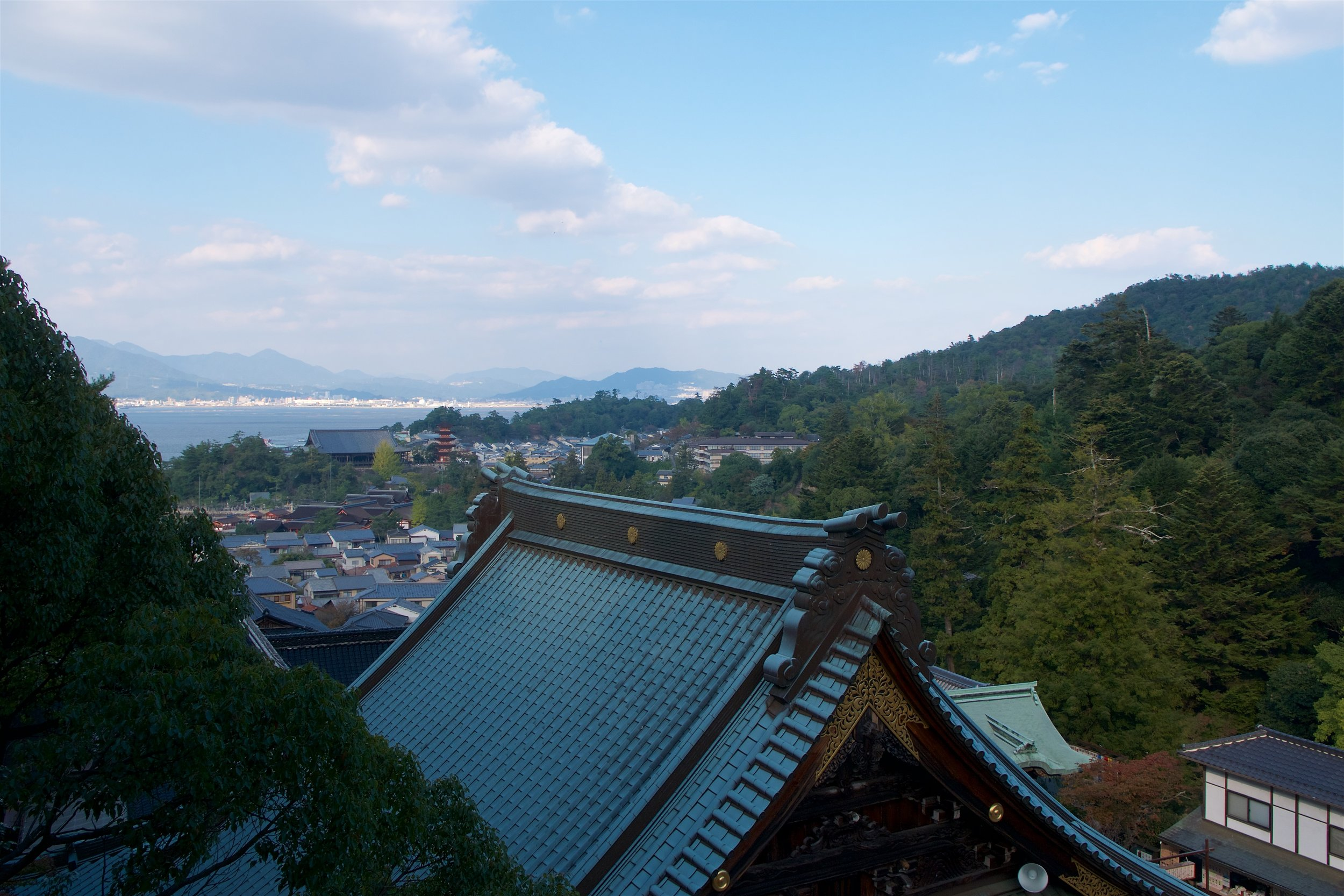 View from Maniden Hall at Daisho-in Temple