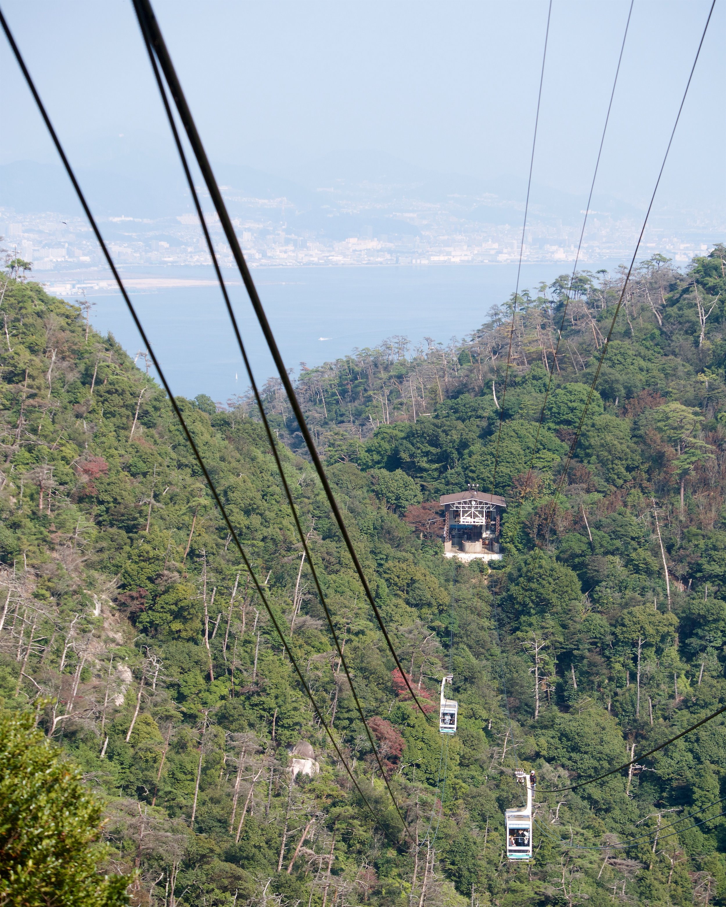Funicular part of the ropeway
