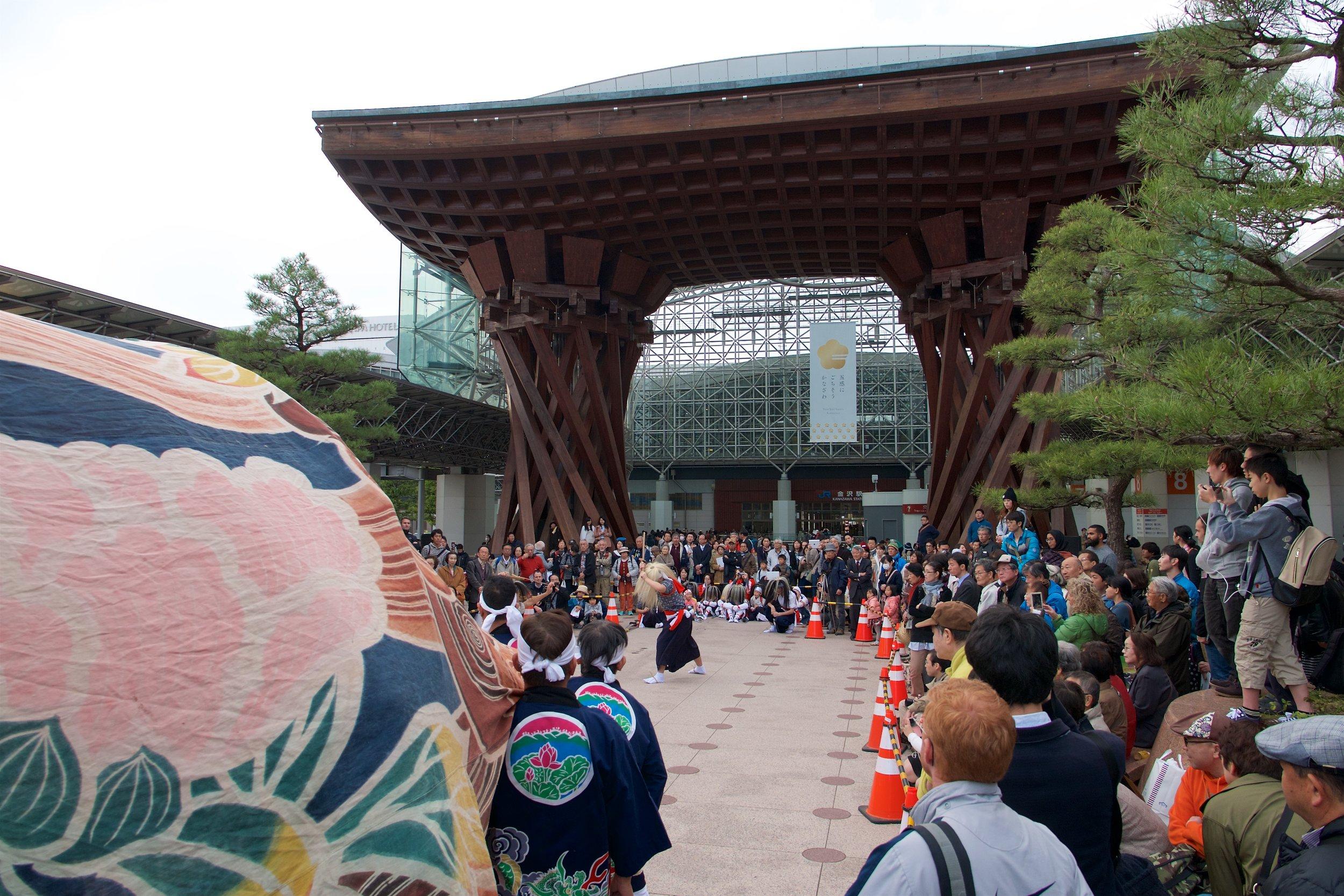 Performance at Kanazawa Station