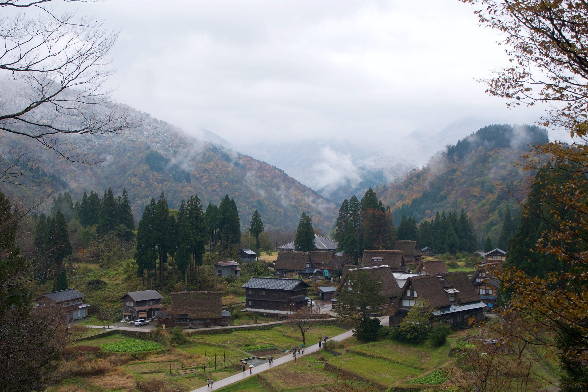 About half of the village can be seen here