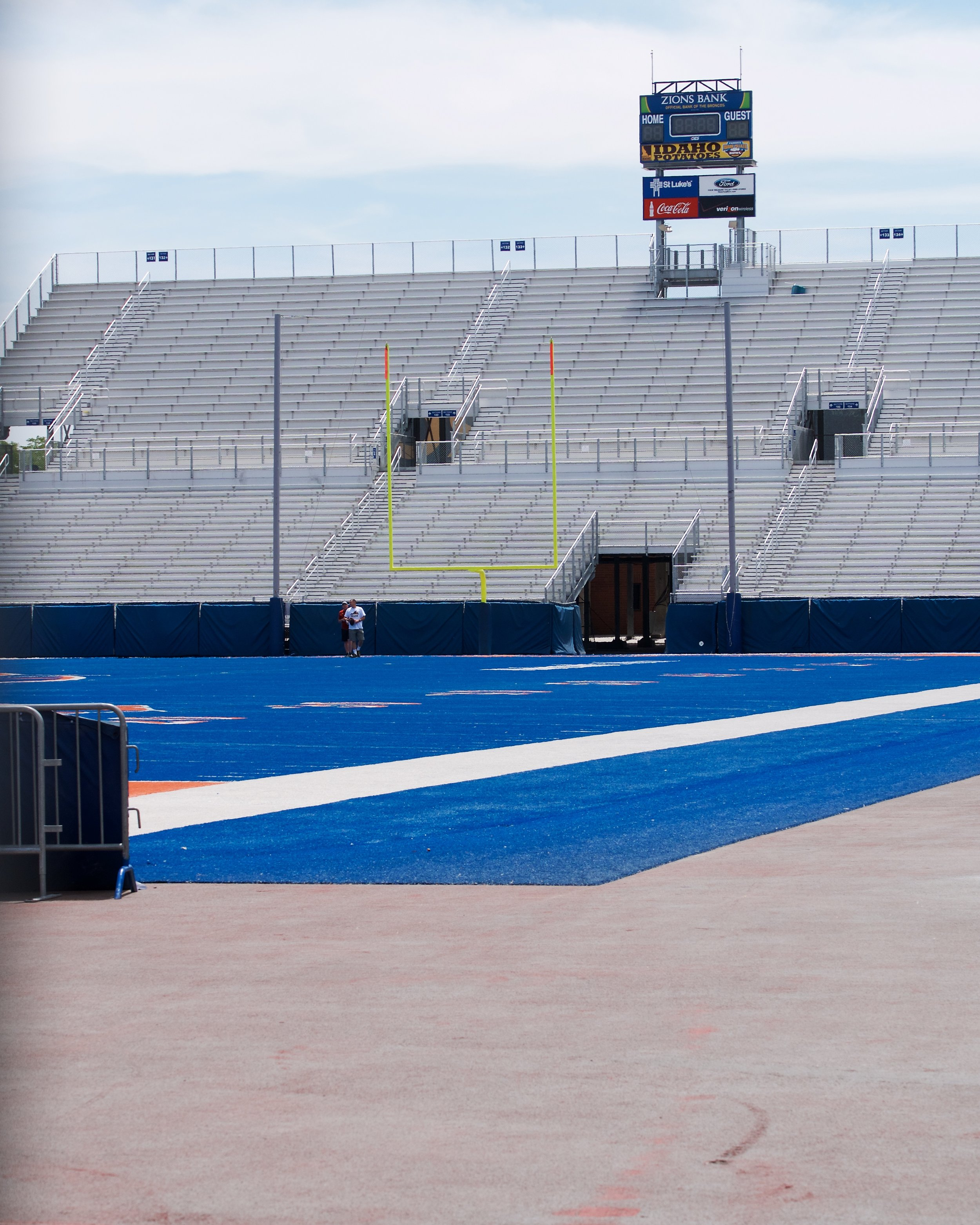 Blue turf at Albertsons Stadium, Boise State University