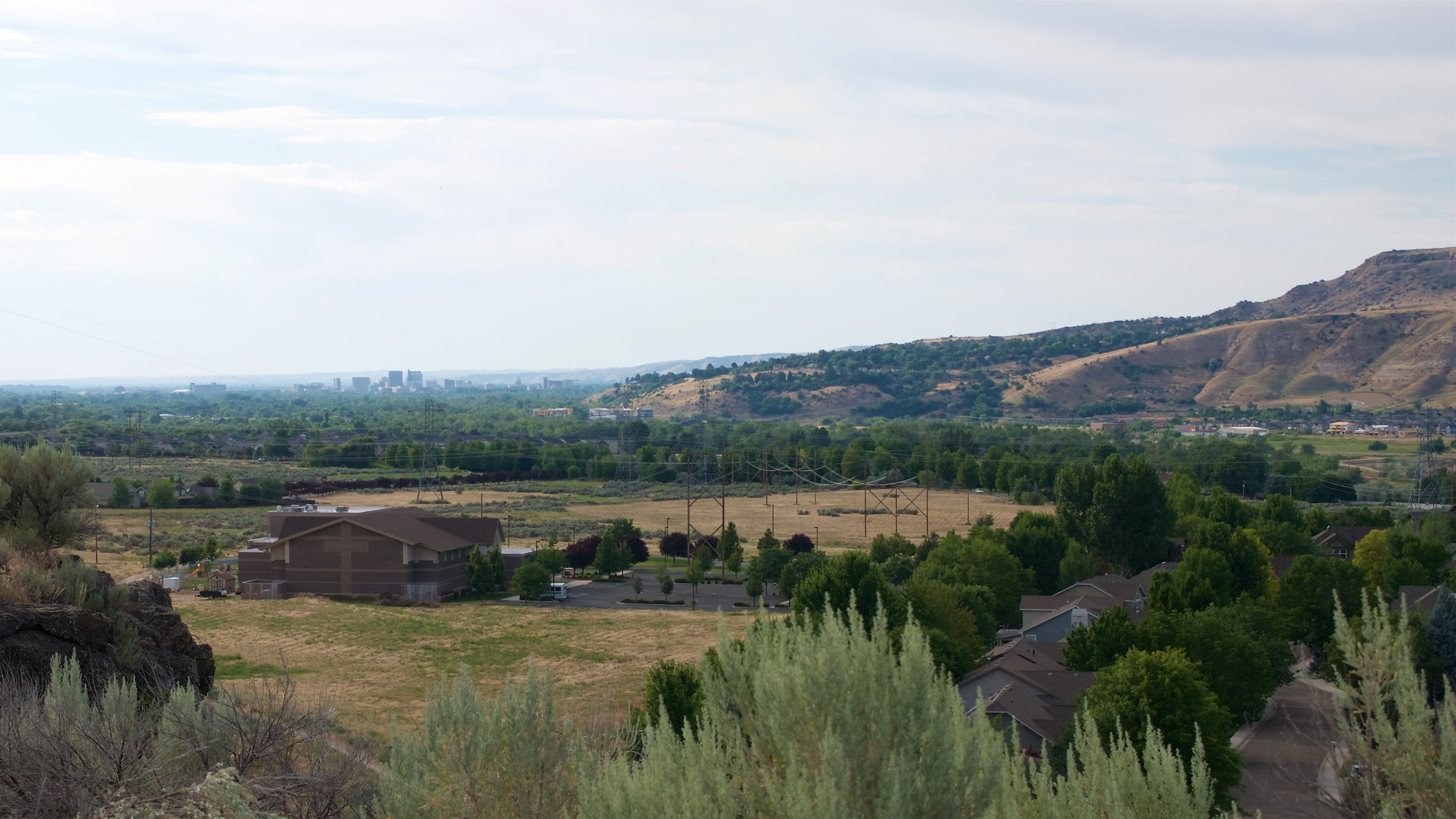 Looking towards downtown Boise from the Oregon Trail Reserve