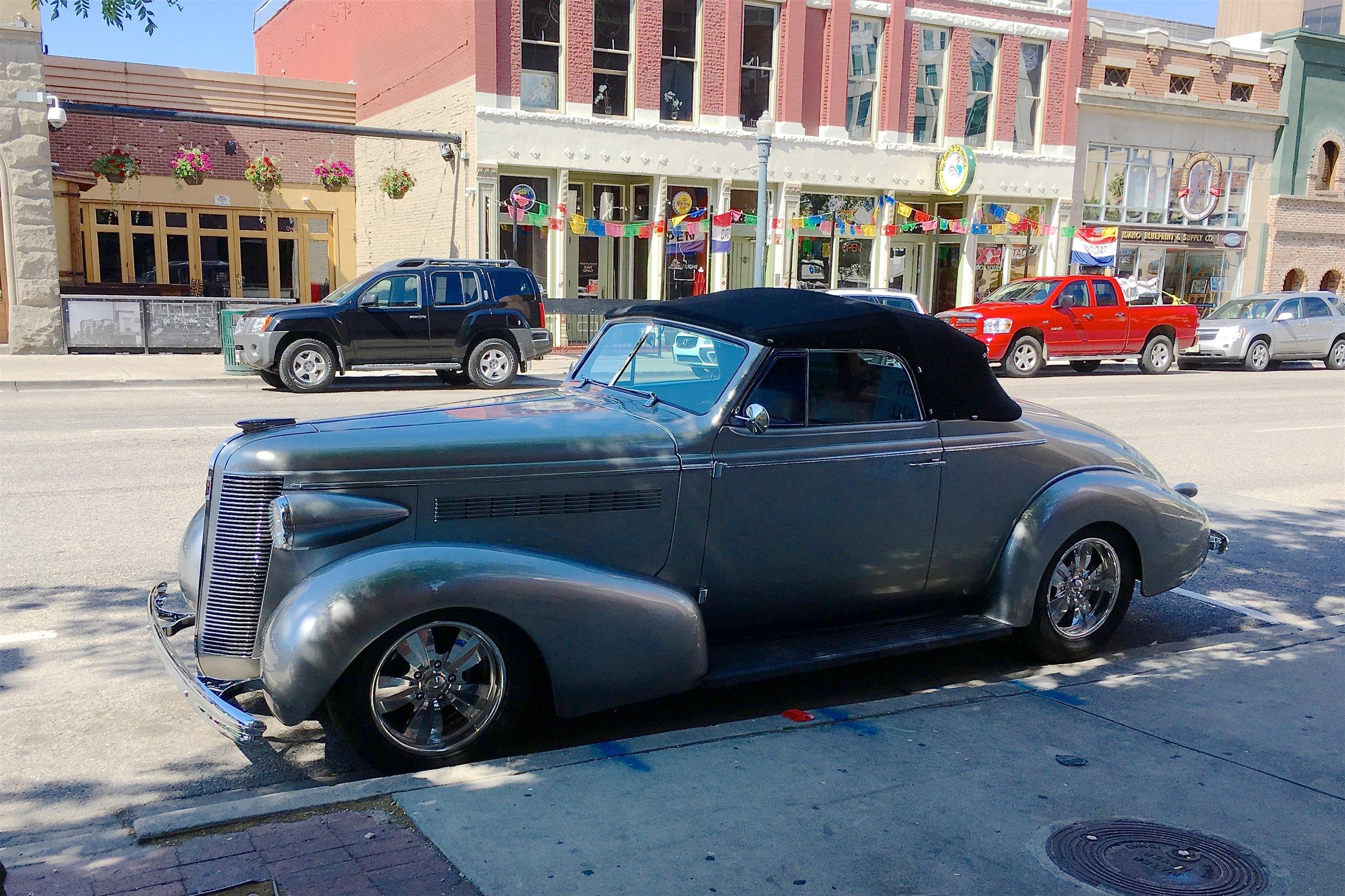 Classic car at rest
