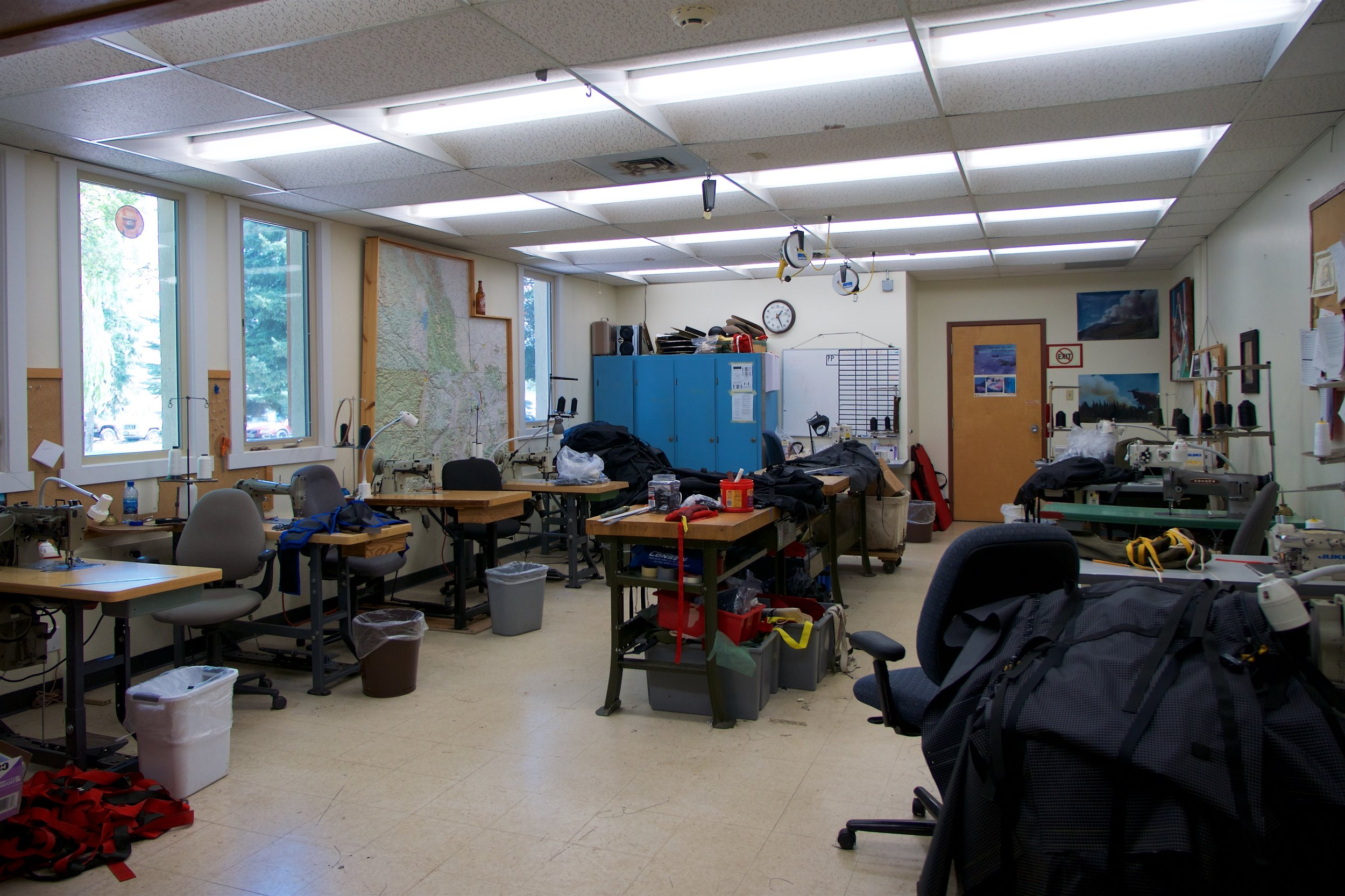 Smokejumper center sewing room