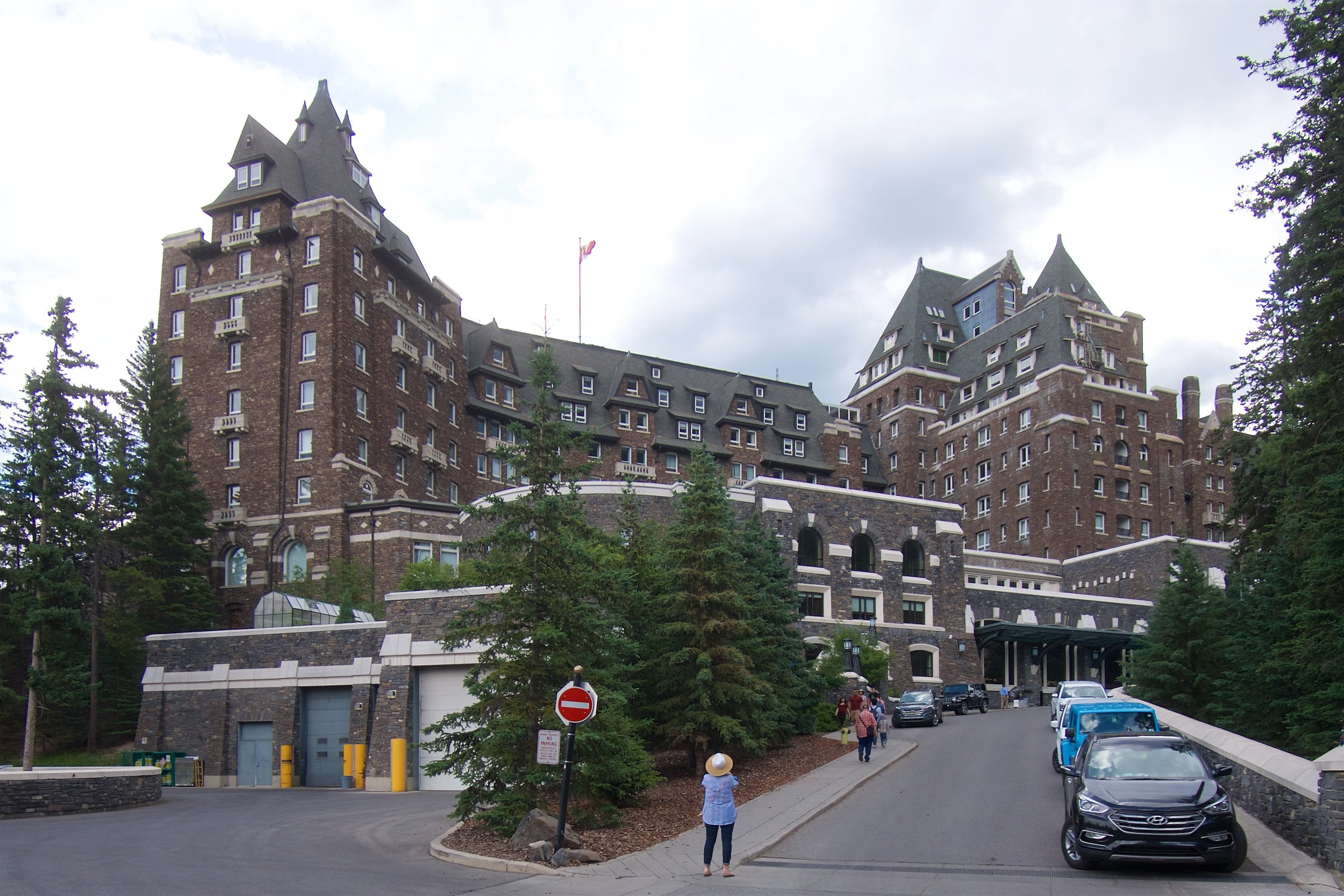 Exterior of the Fairmont Banff Springs Hotel