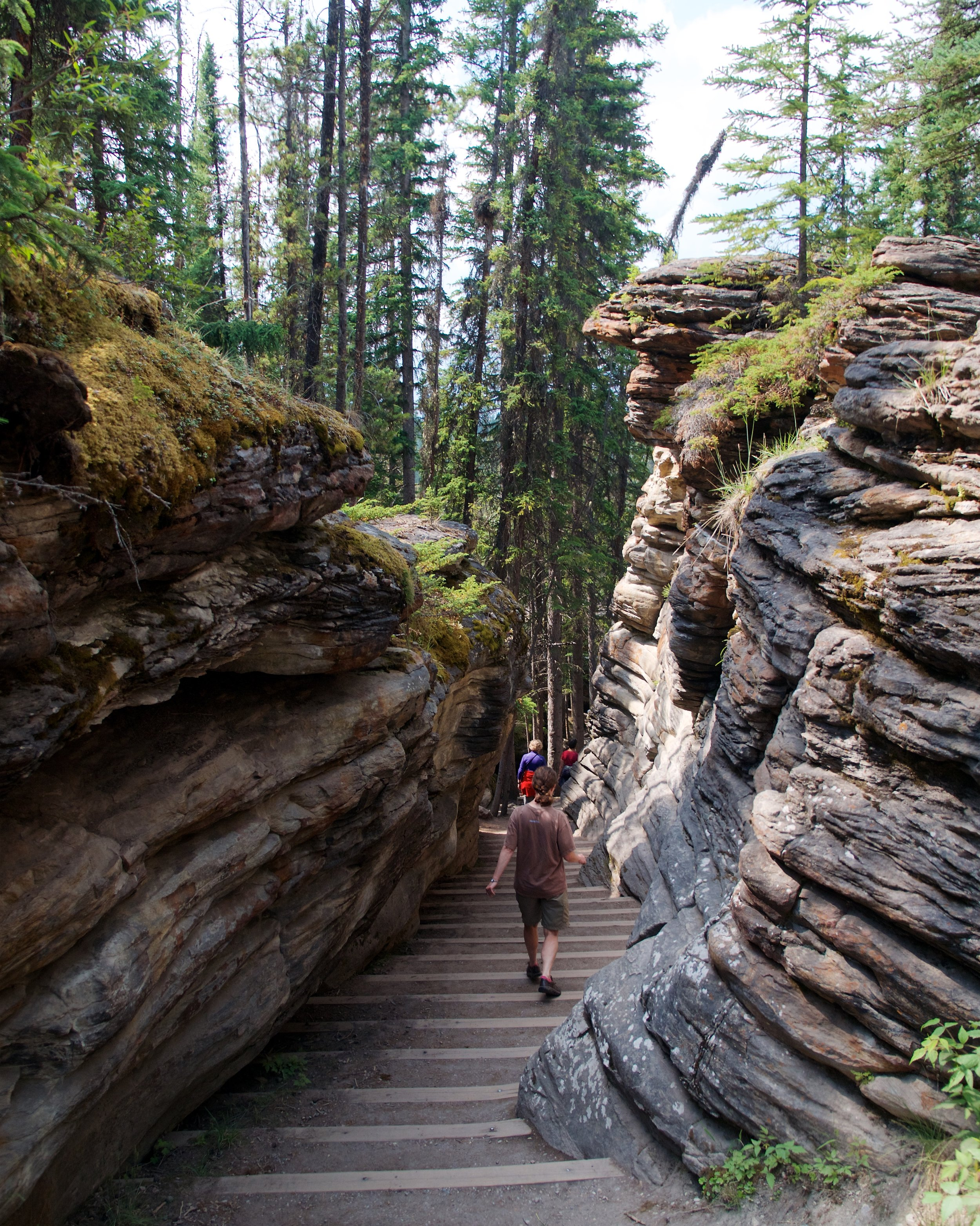 One of several paths through canyons formed by the falls