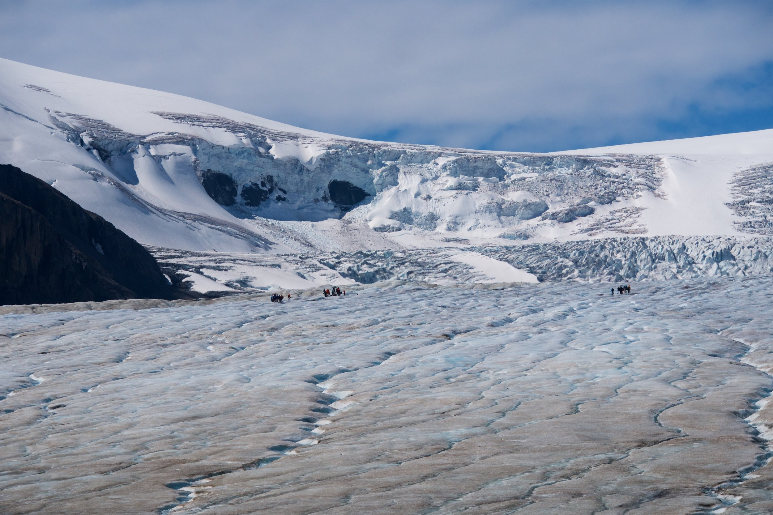 Tourists on the glacier
