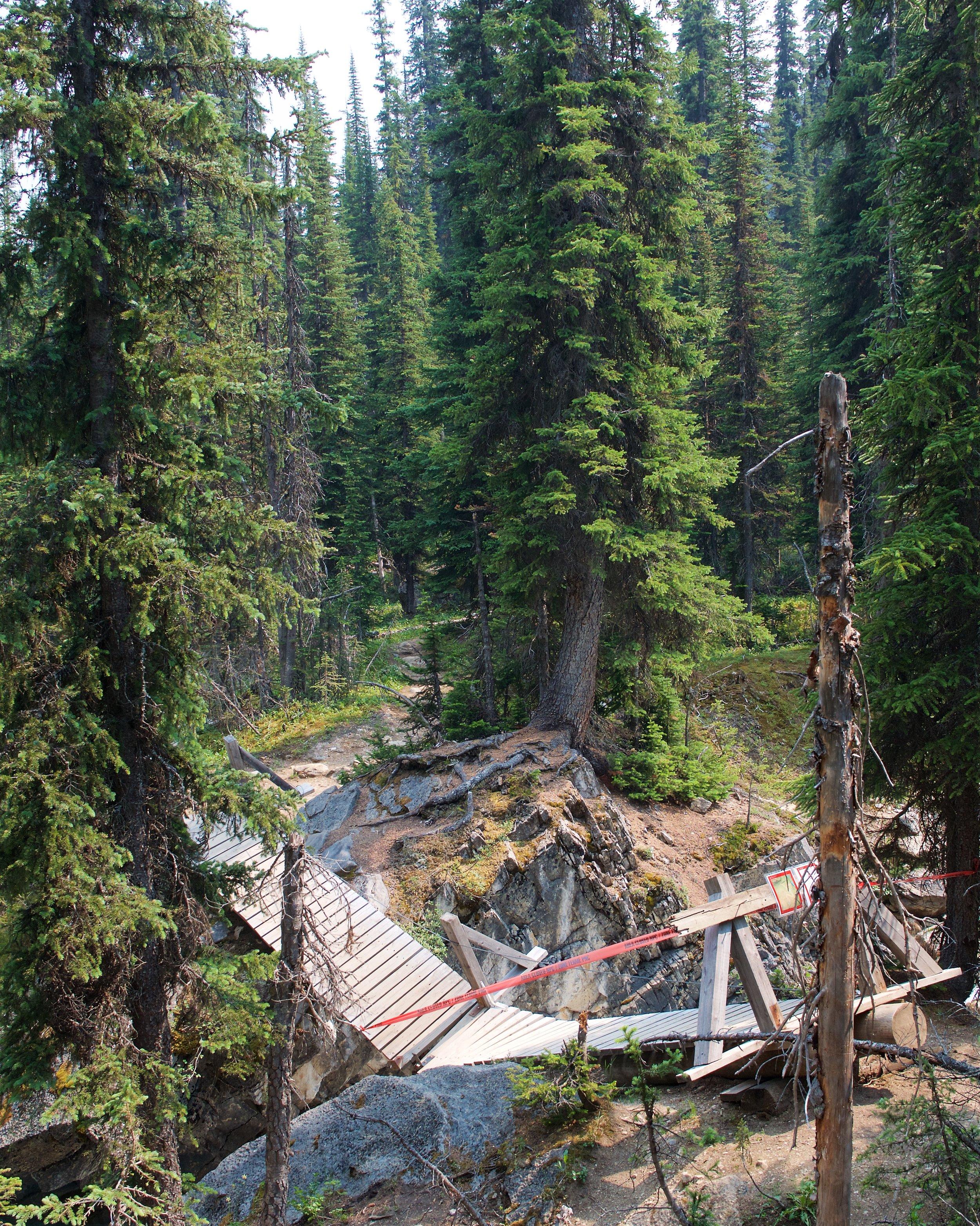 Celeste Bridge, washed out