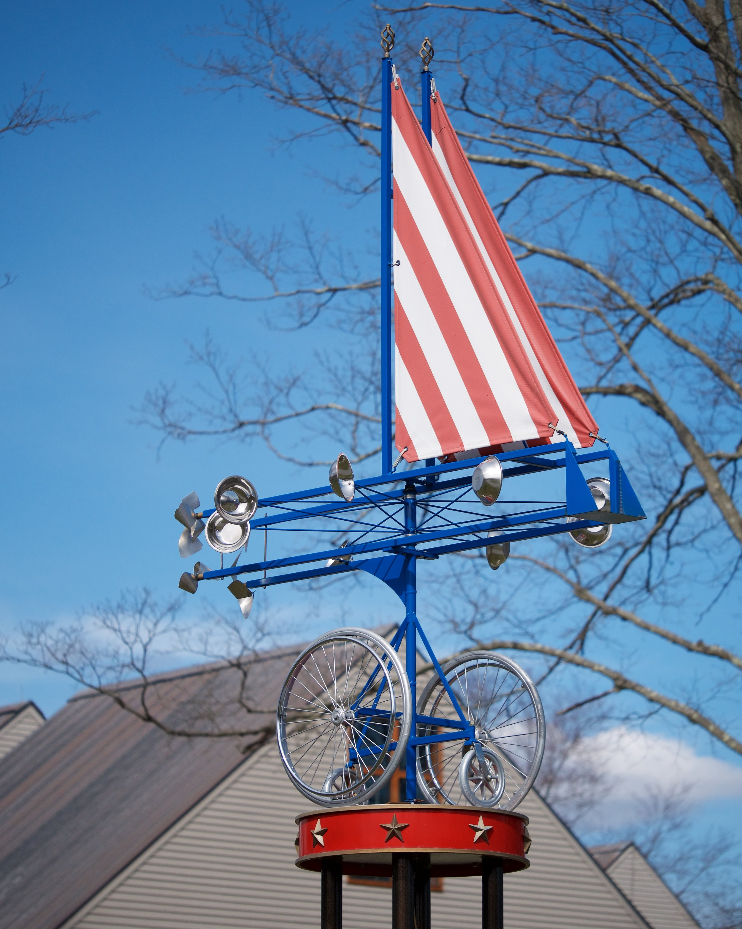 Wheelchair weather vane