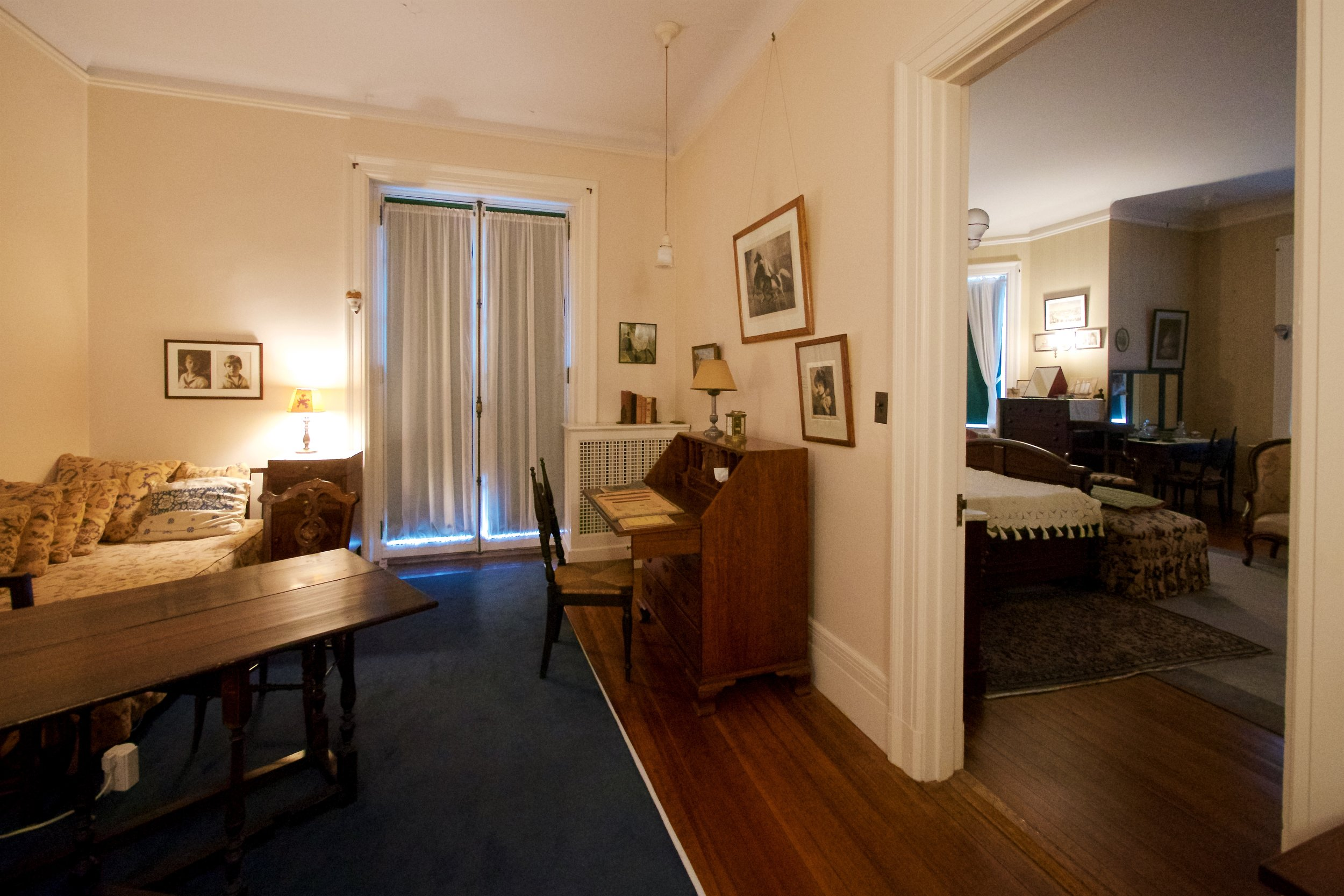 Eleanor's room, FDR's through the connecting door
