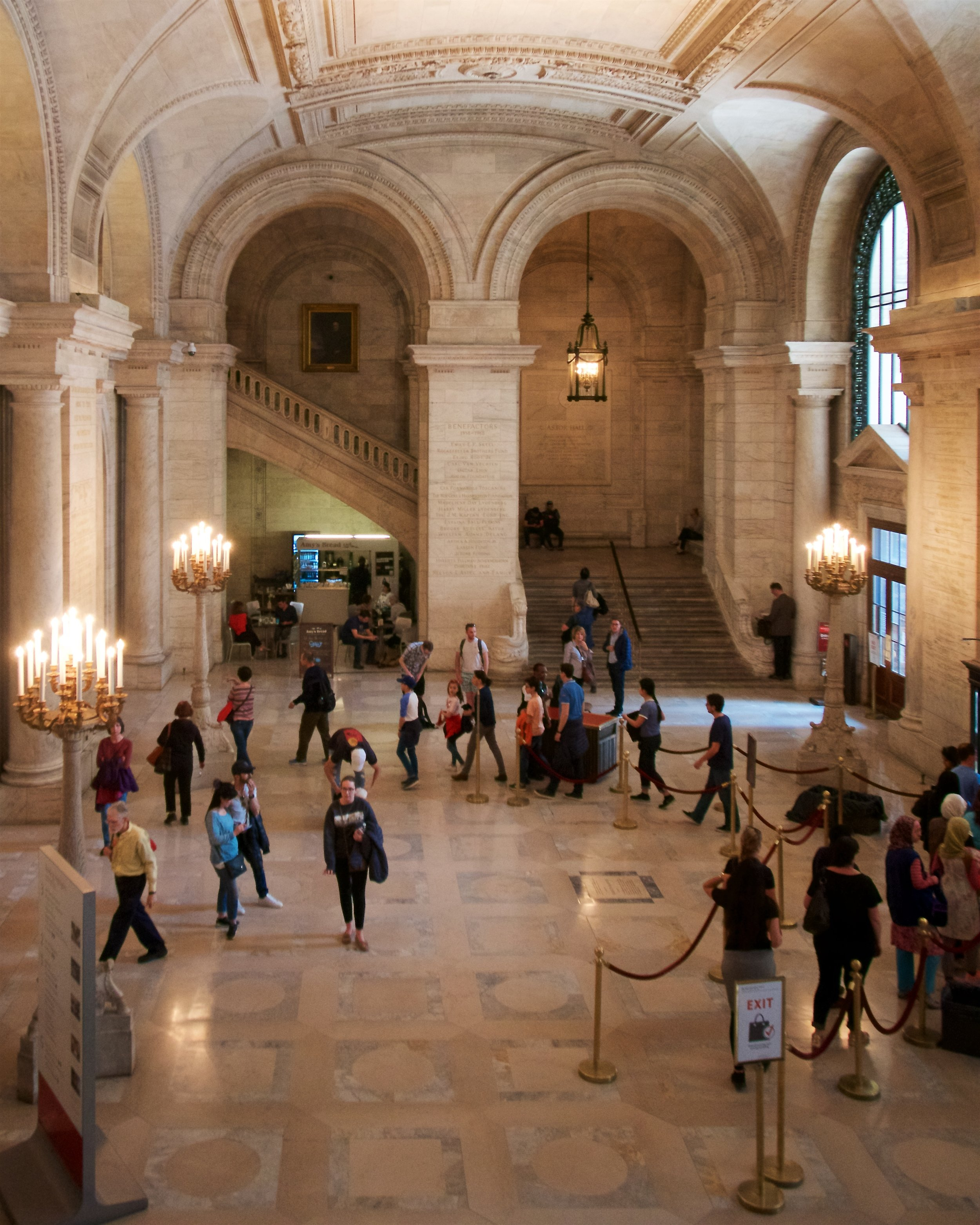 Entry of the New York Public Library