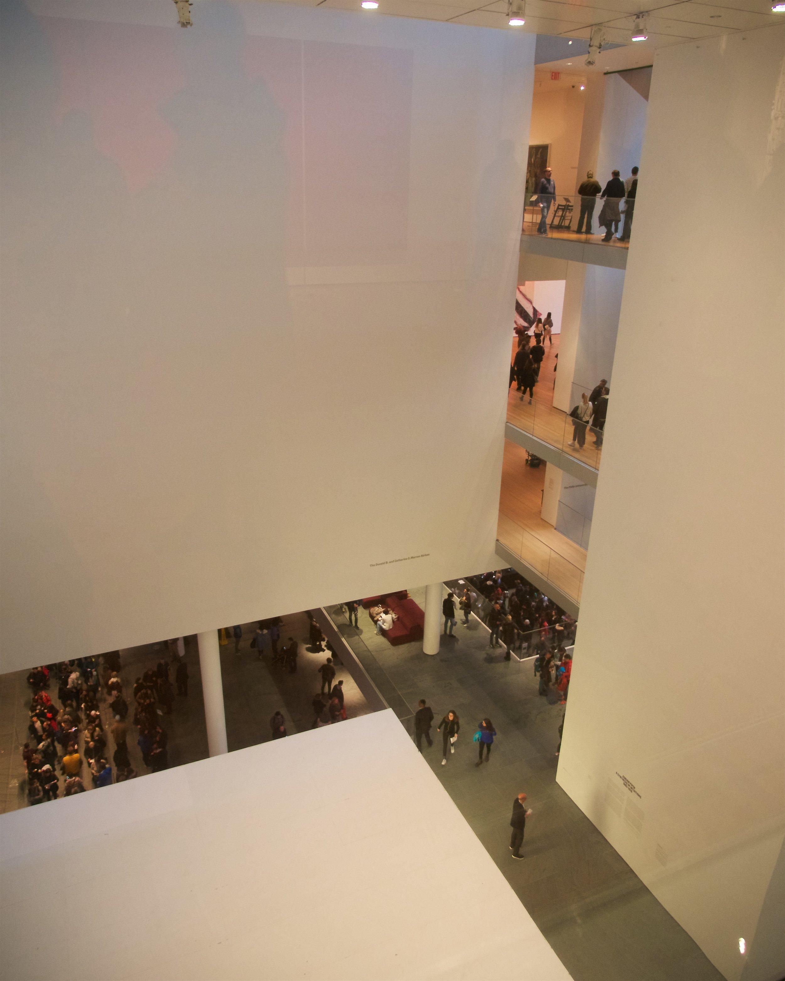 View of floors 1 through 4