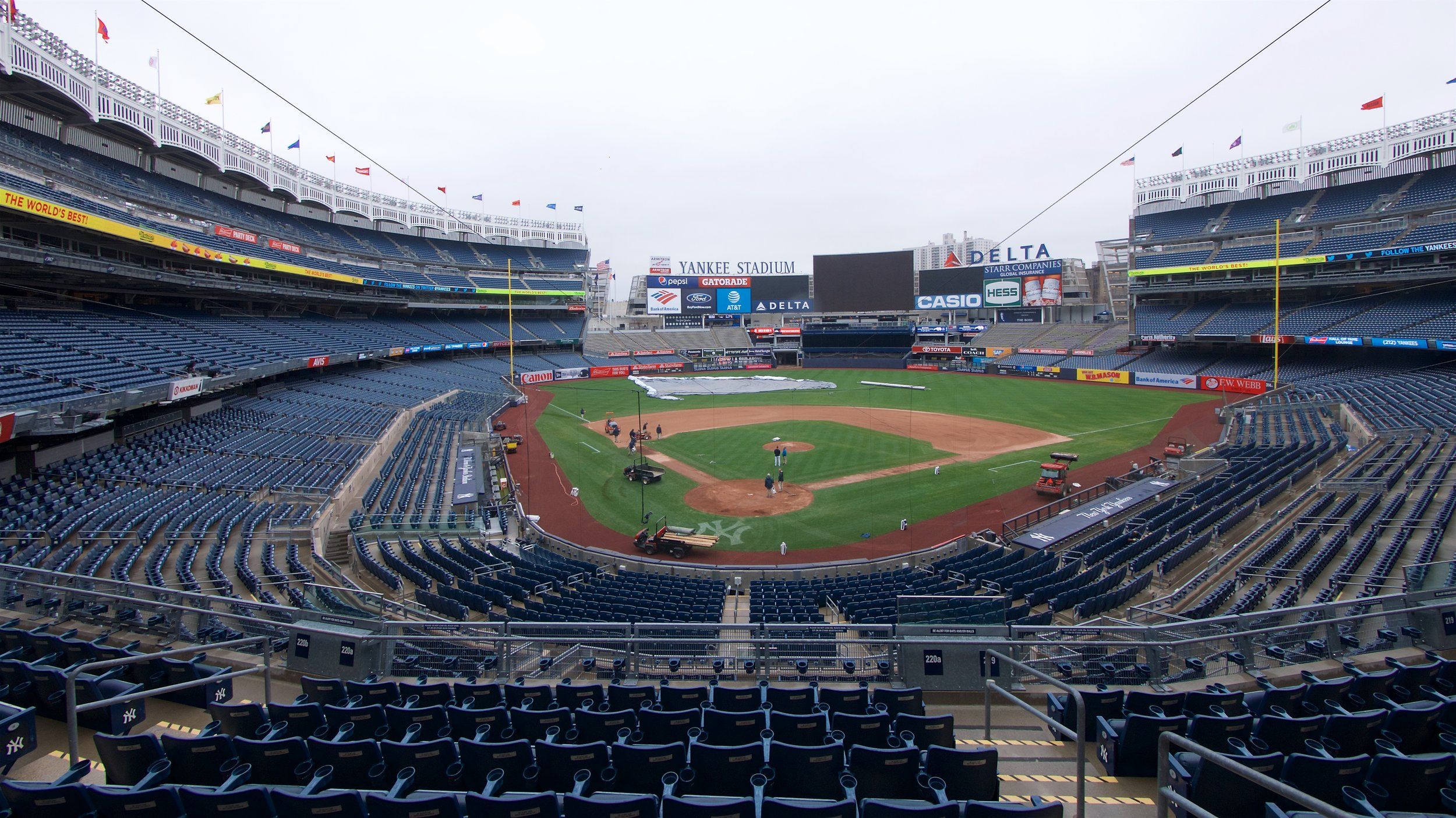 Field getting prepared for a game