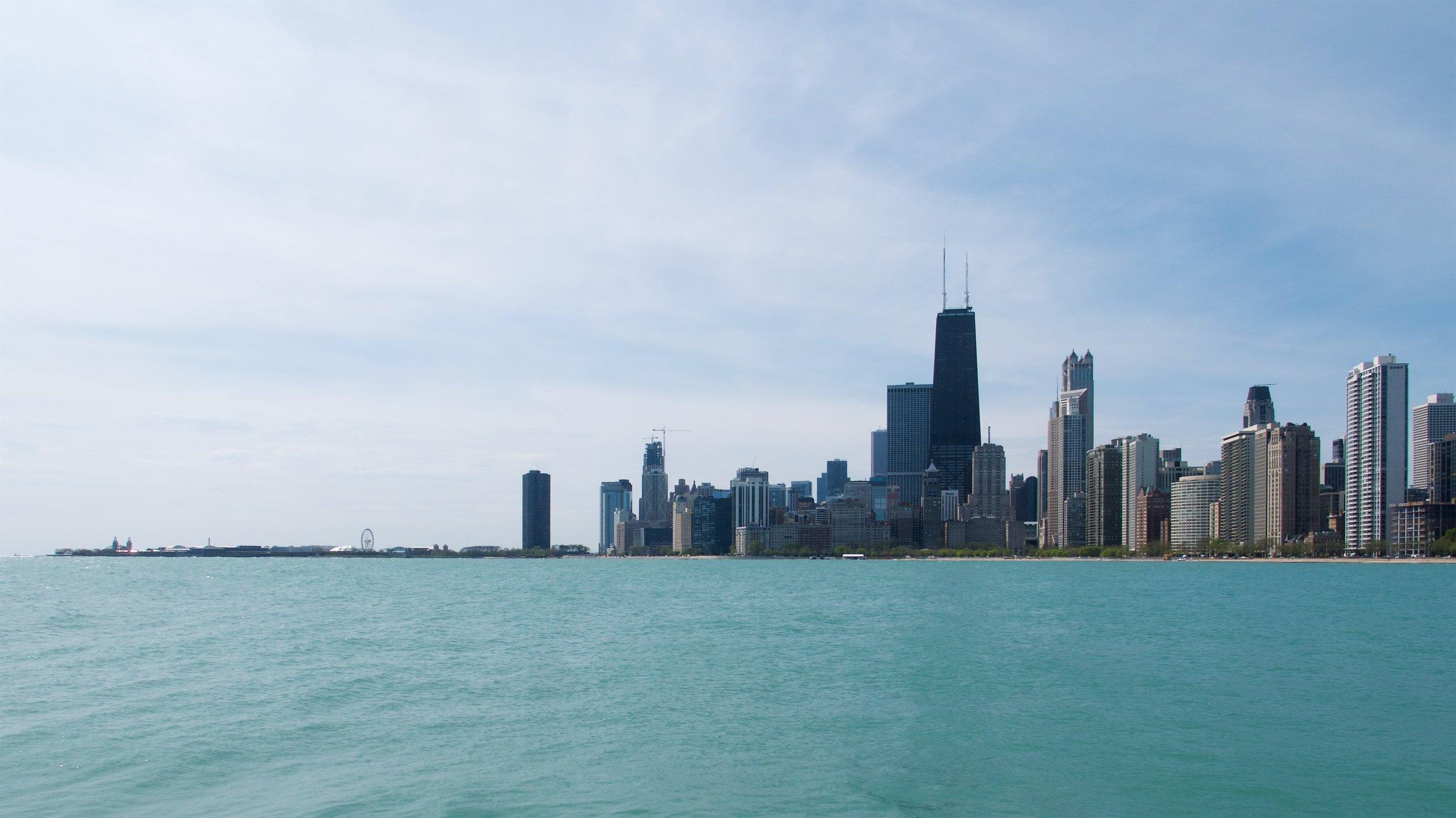 Chicago skyline from North Avenue Beach