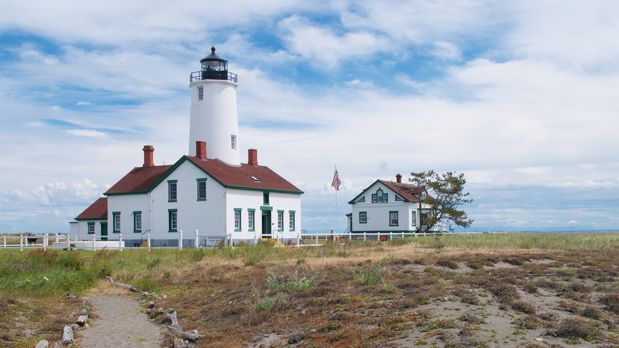 Lighthouse and light keeper house