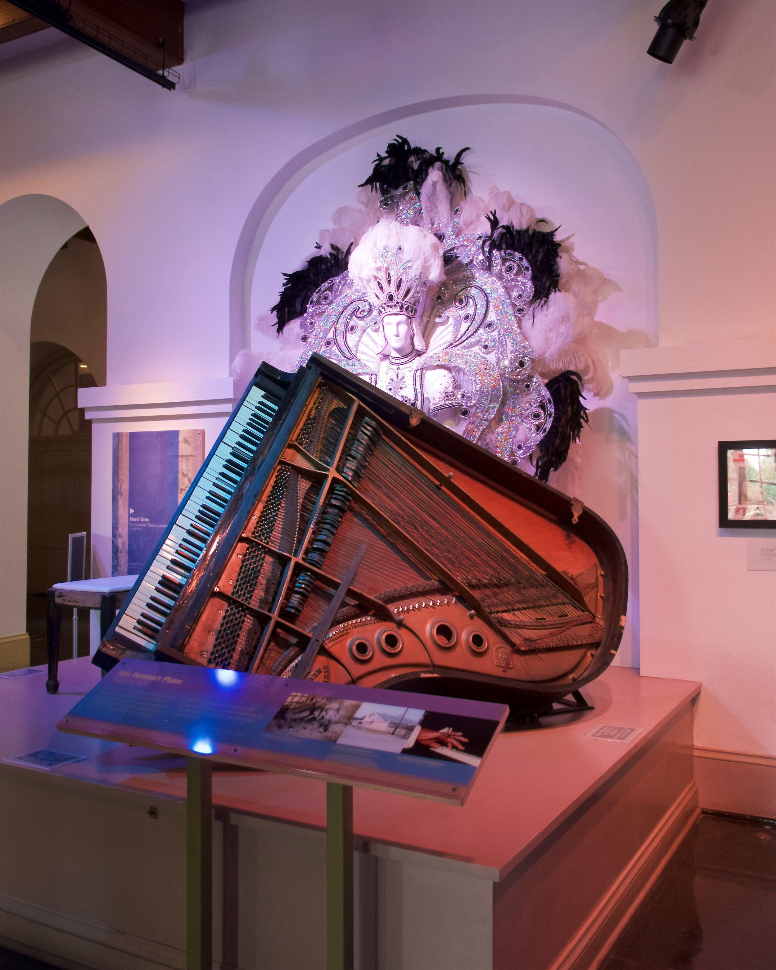 Fats Domino's piano after Katrina damage