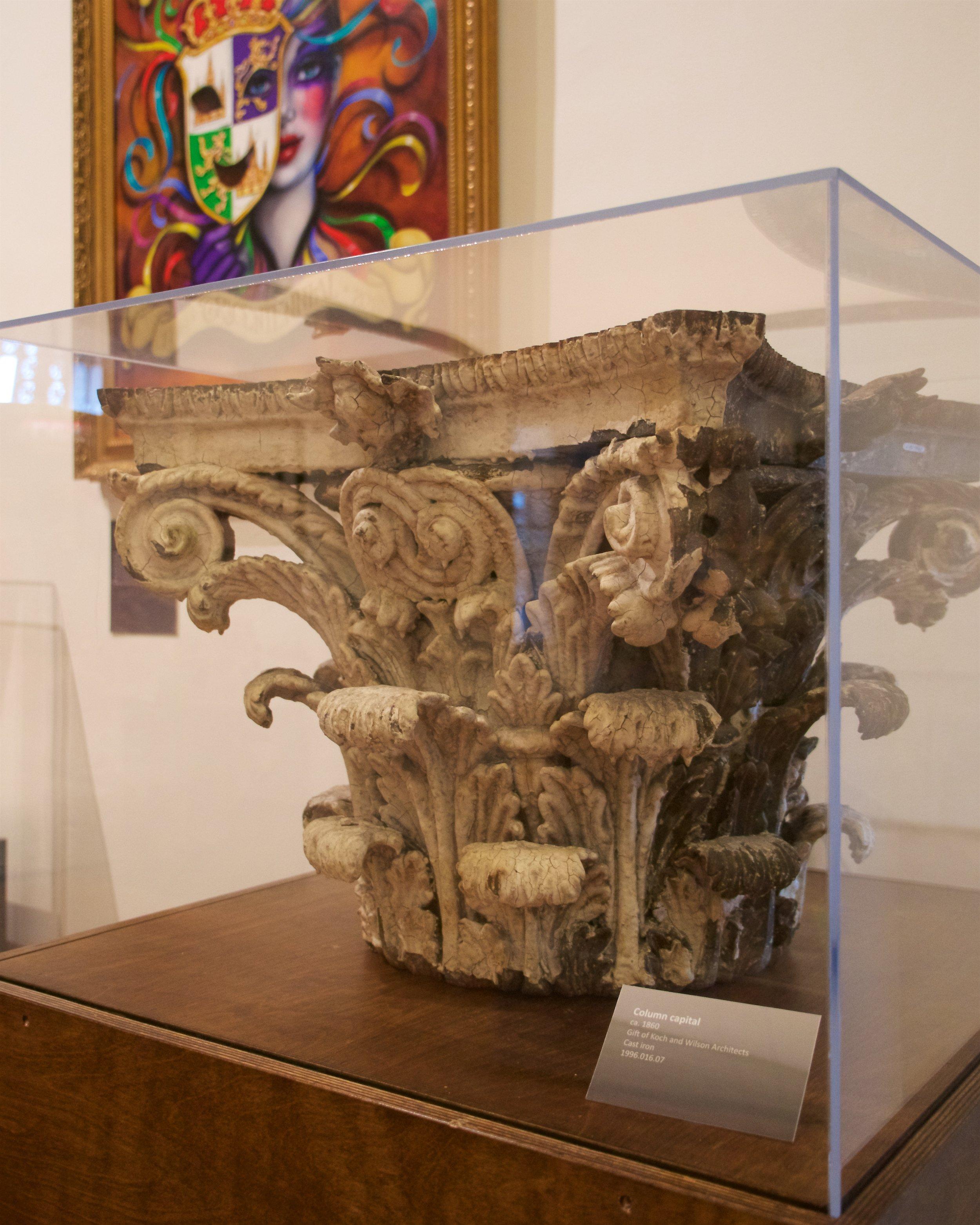 Cast iron column capital