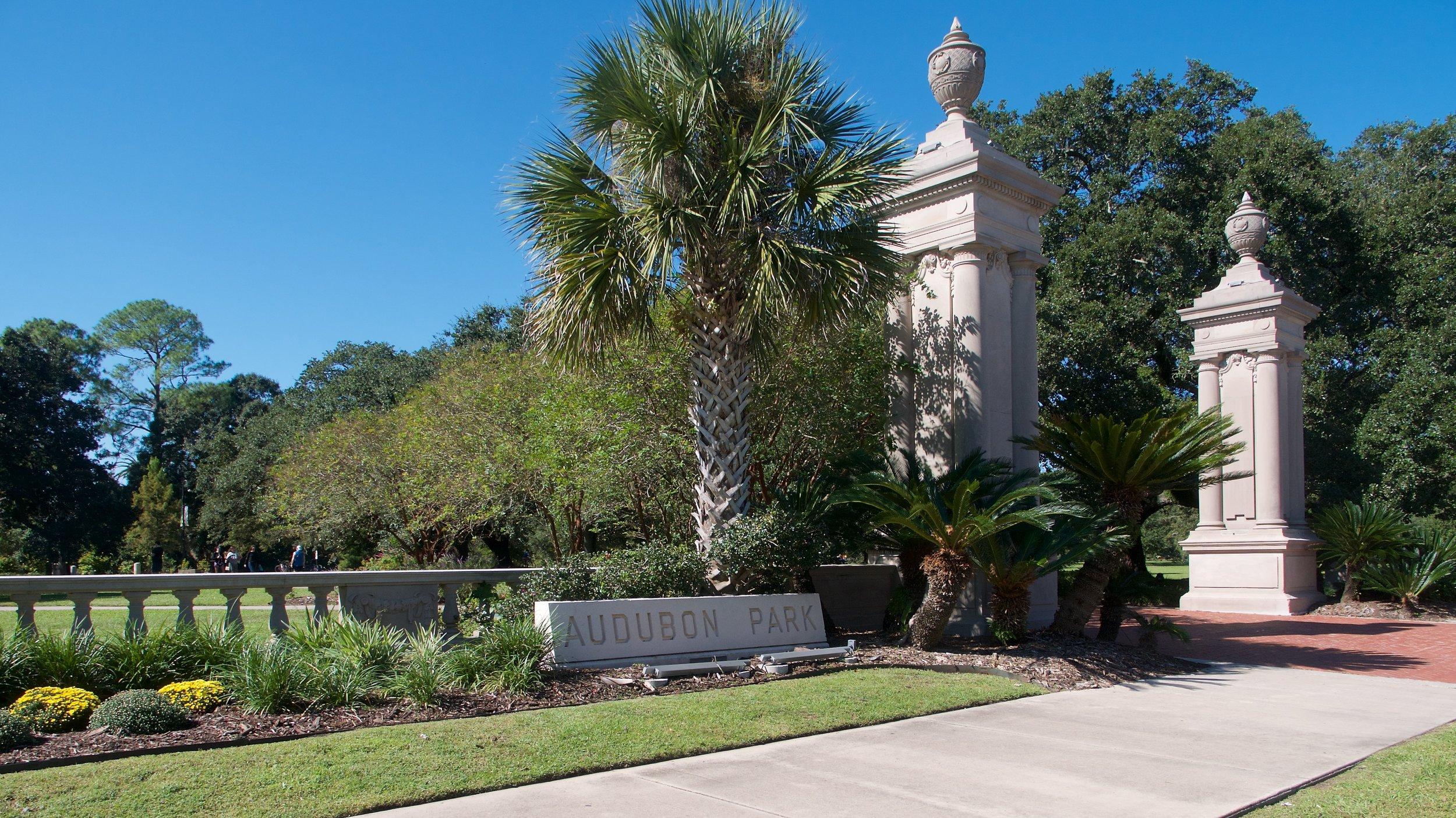 Entrance to Audubon Park