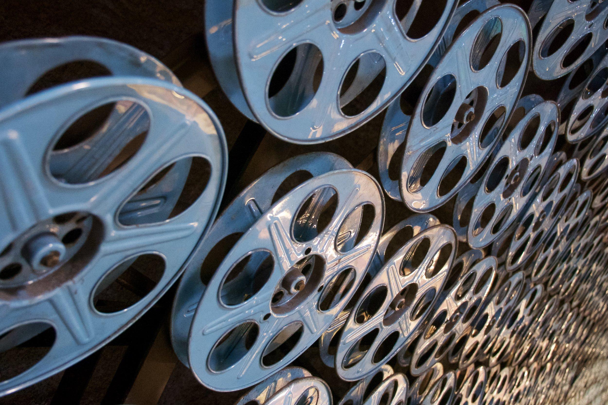 Film reels, Hollywood and Vine station