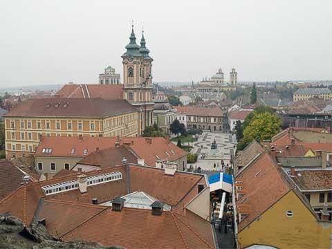 View of Eger's Dobó Square