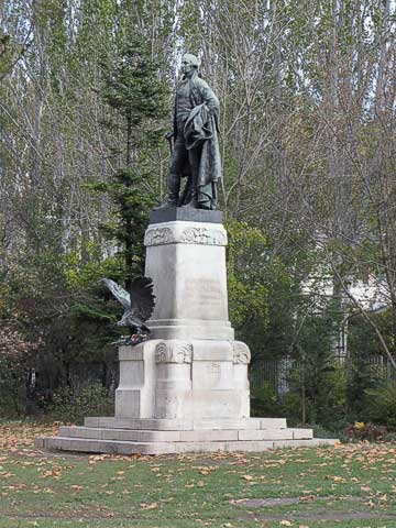 Statue of George Washington in City Park