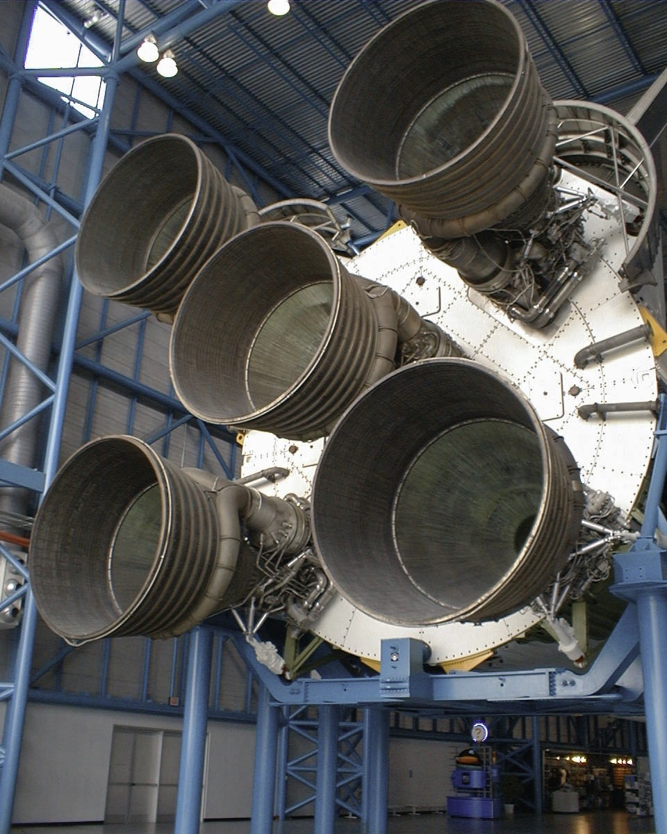 Saturn V first stage F-1 engines