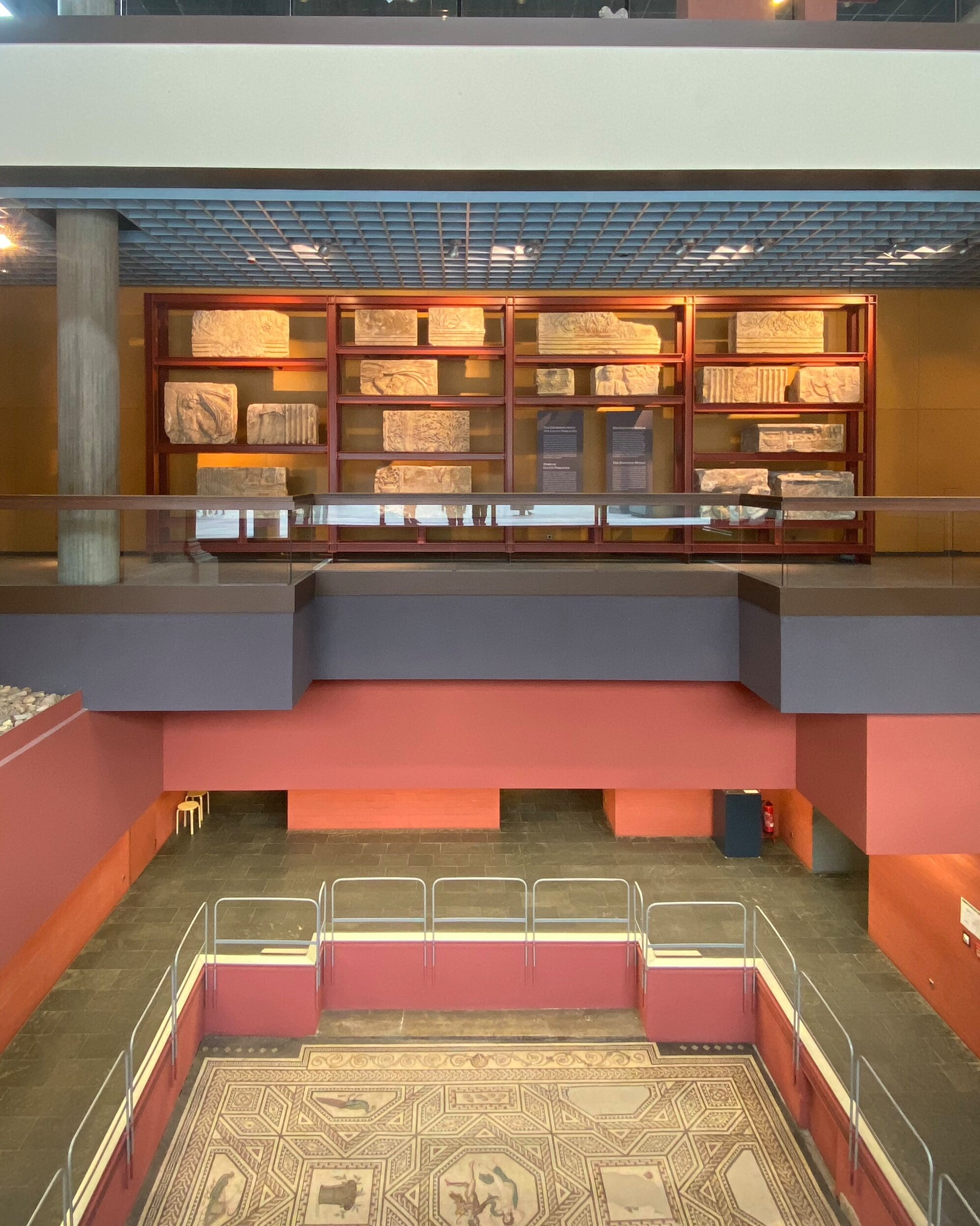 Roman-Germanic museum with its tile floor
