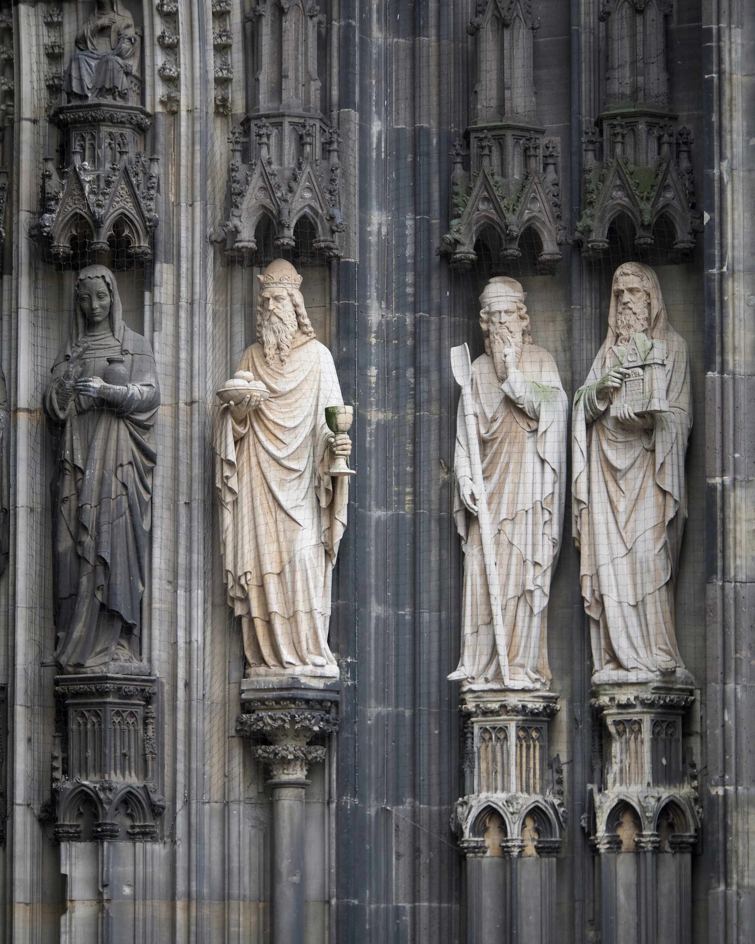 Statues on the Cologne Cathedral