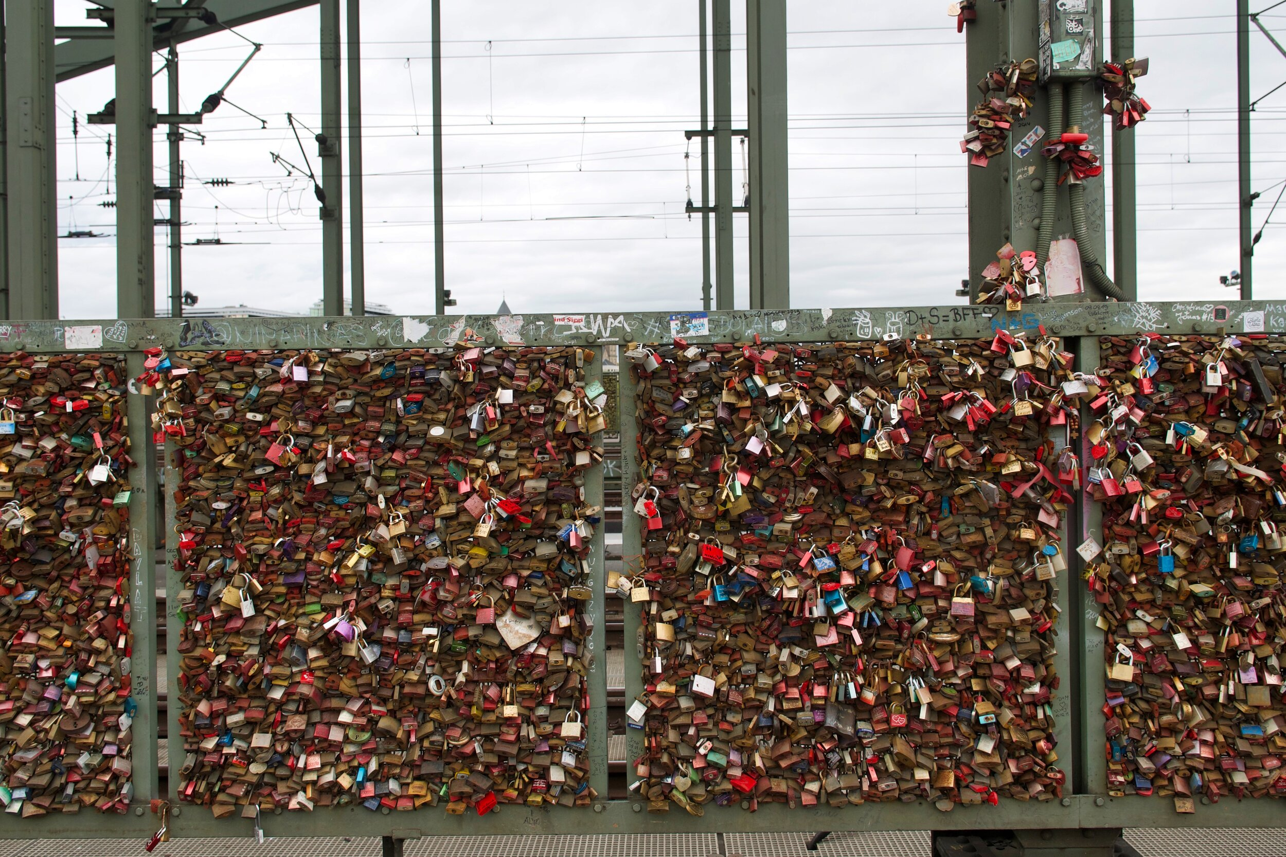 Locks on Hohenzollern Bridge