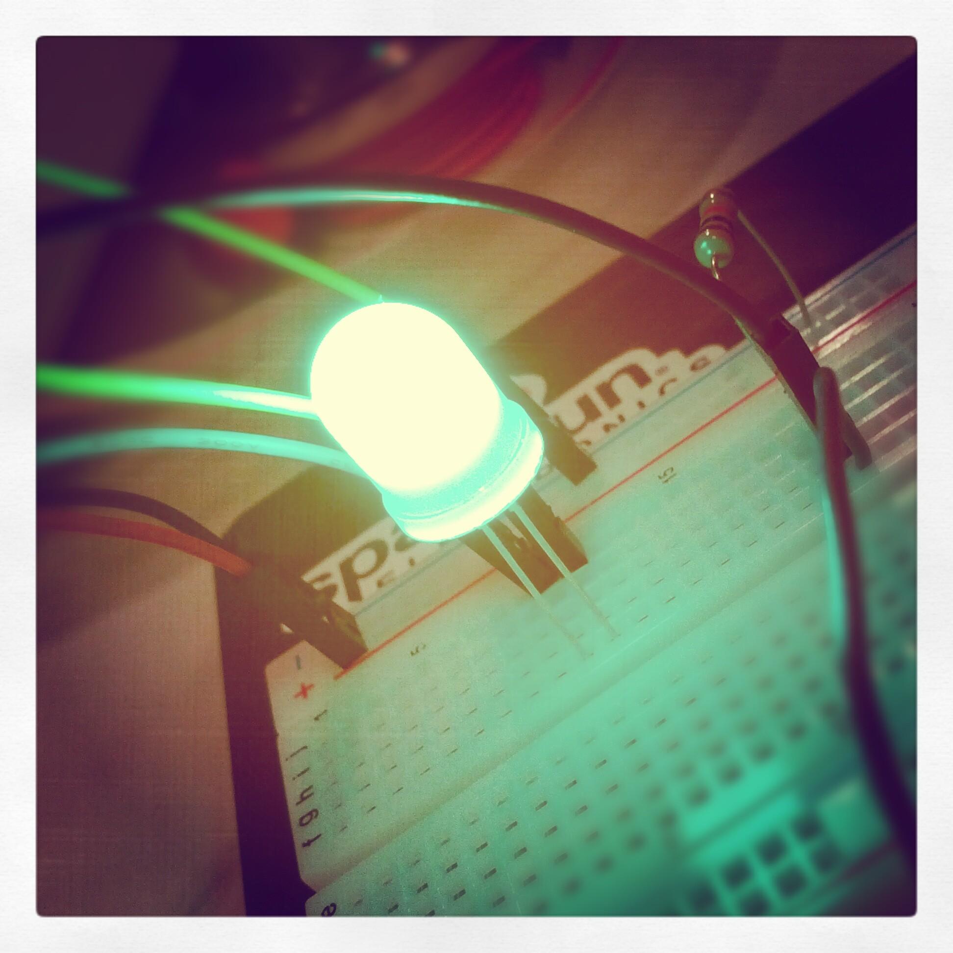 Big green light
