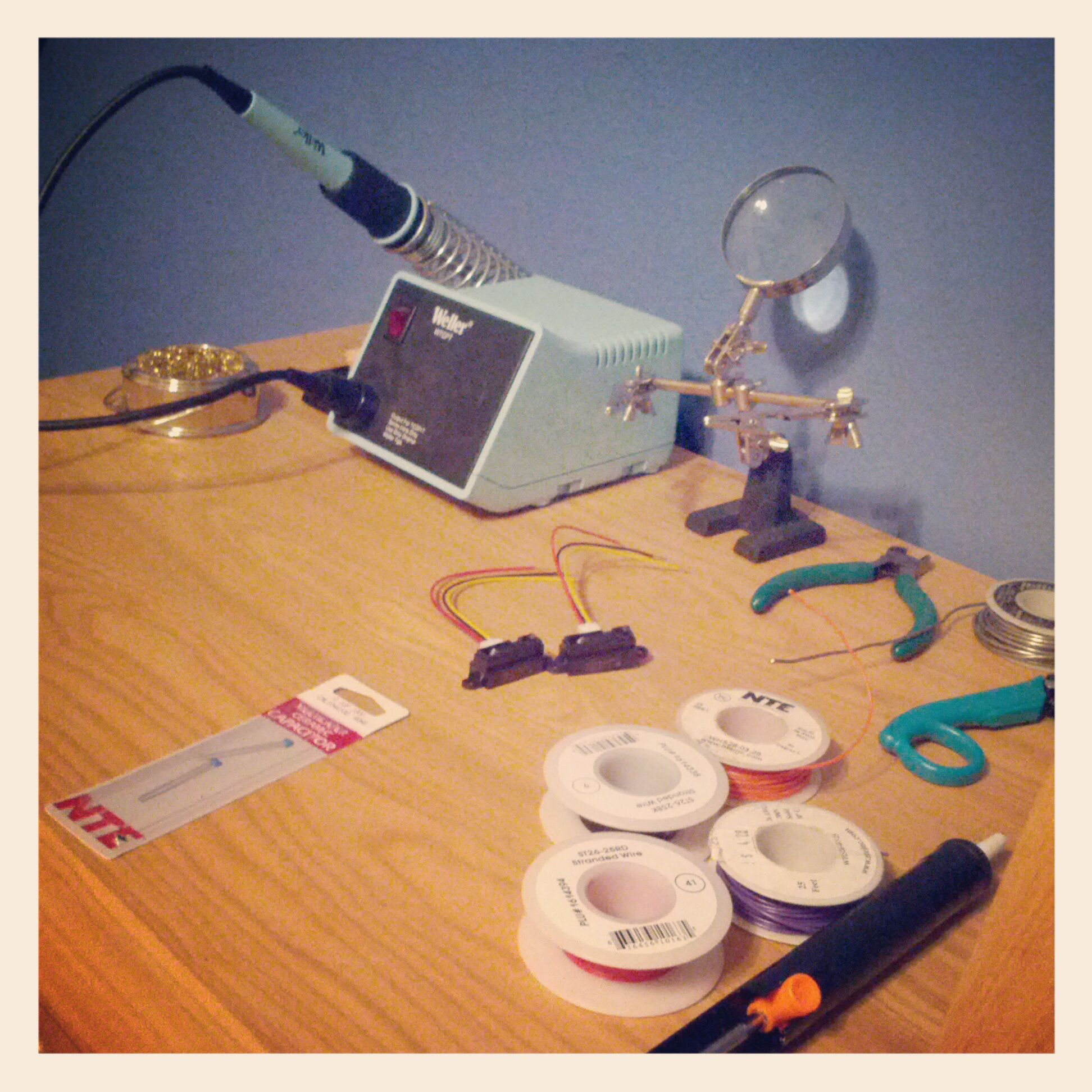 IR sensors/soldering station at home