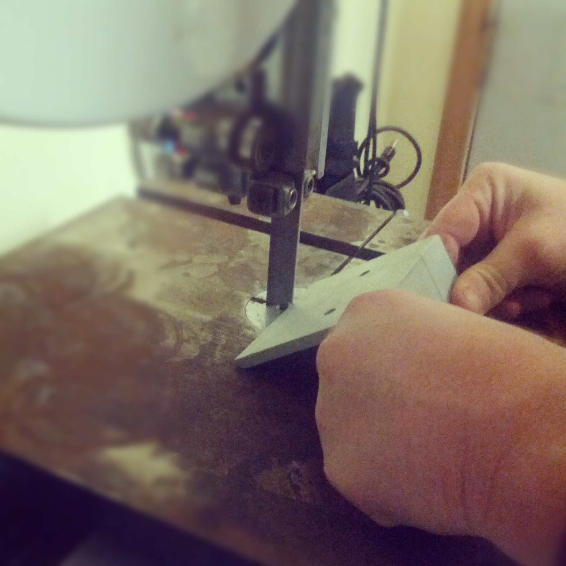 Cutting the angle iron sections