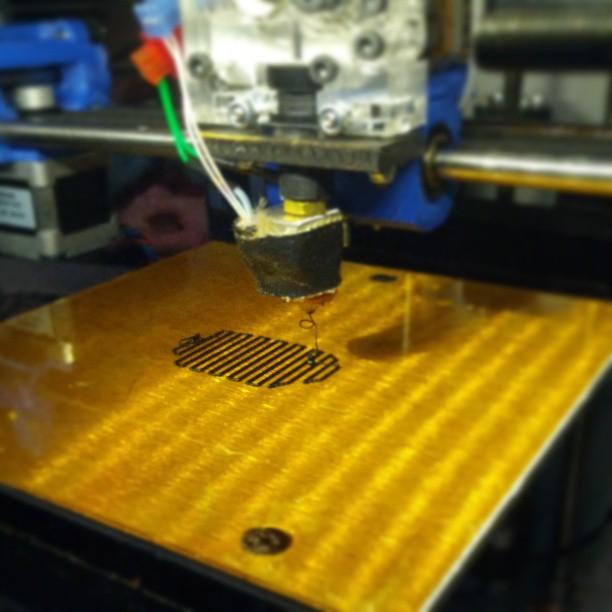 3D printing experiment: Gator