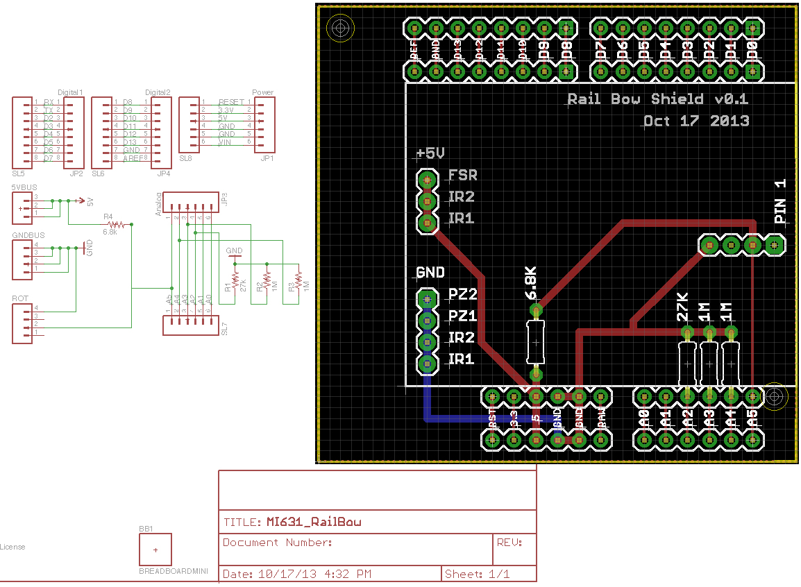 schematic/PCB render, Fall 2013