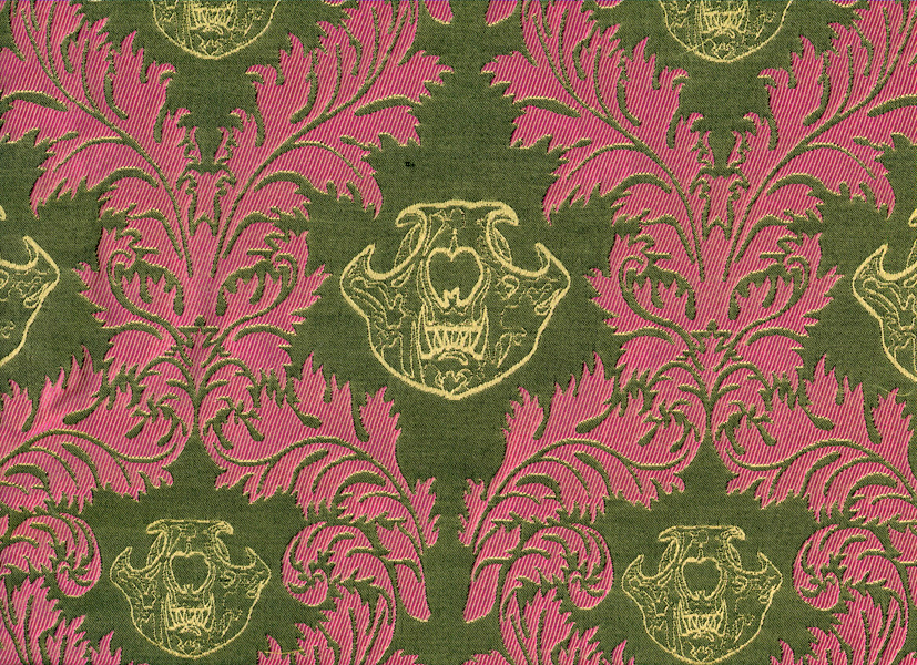 Copy of Silk Jacquard Sample - MeerCat Skull Damask.jpg